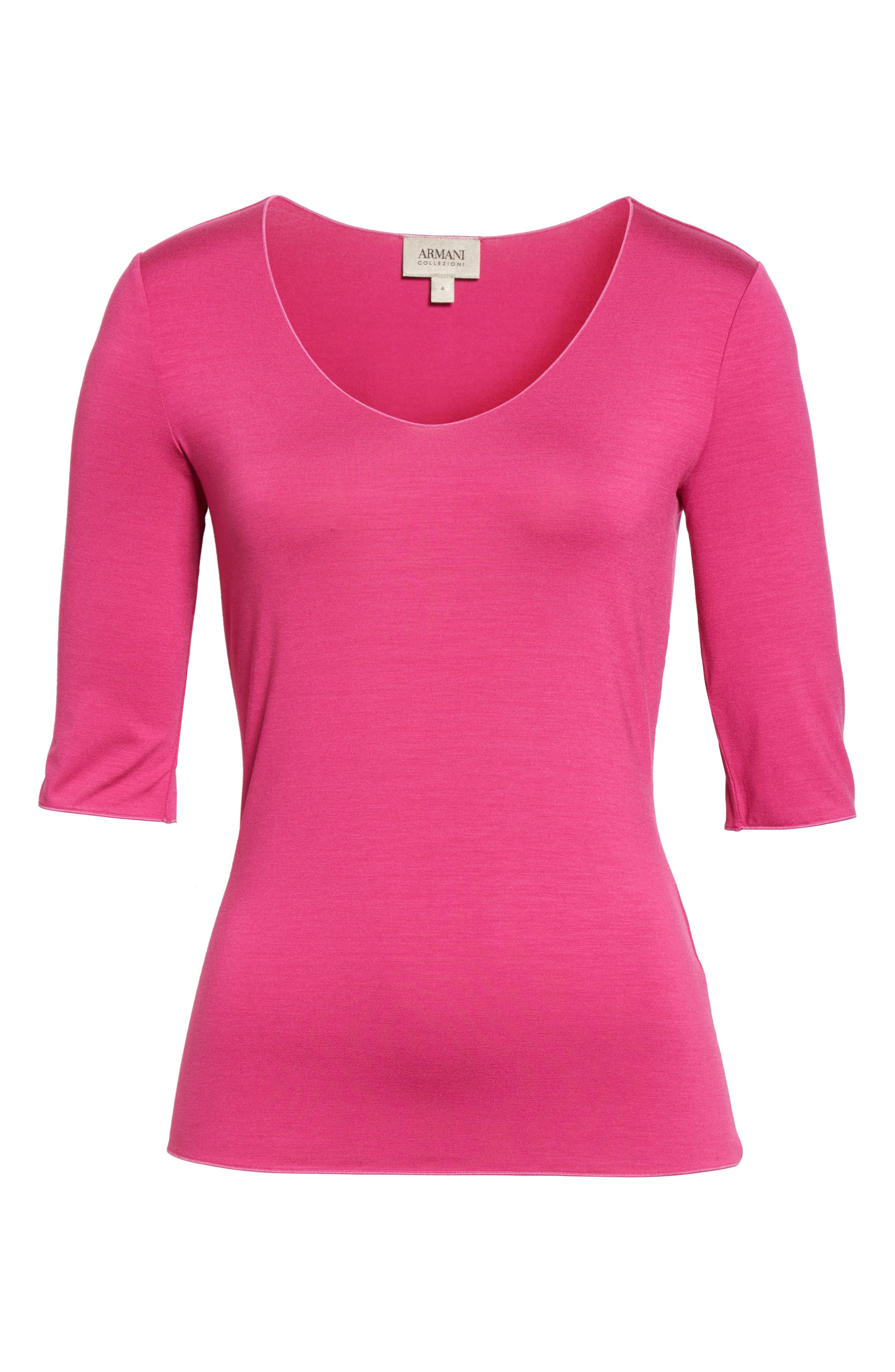 Stretch Jersey Top,                             Alternate thumbnail 6, color,                             696