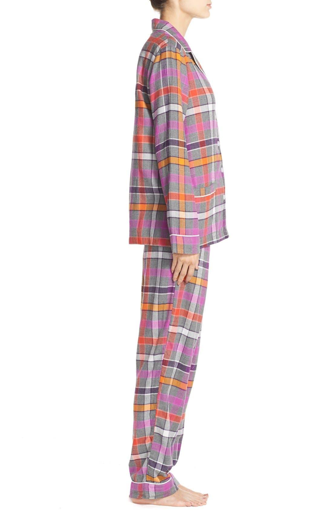 Flannel Pajamas,                             Alternate thumbnail 4, color,                             060