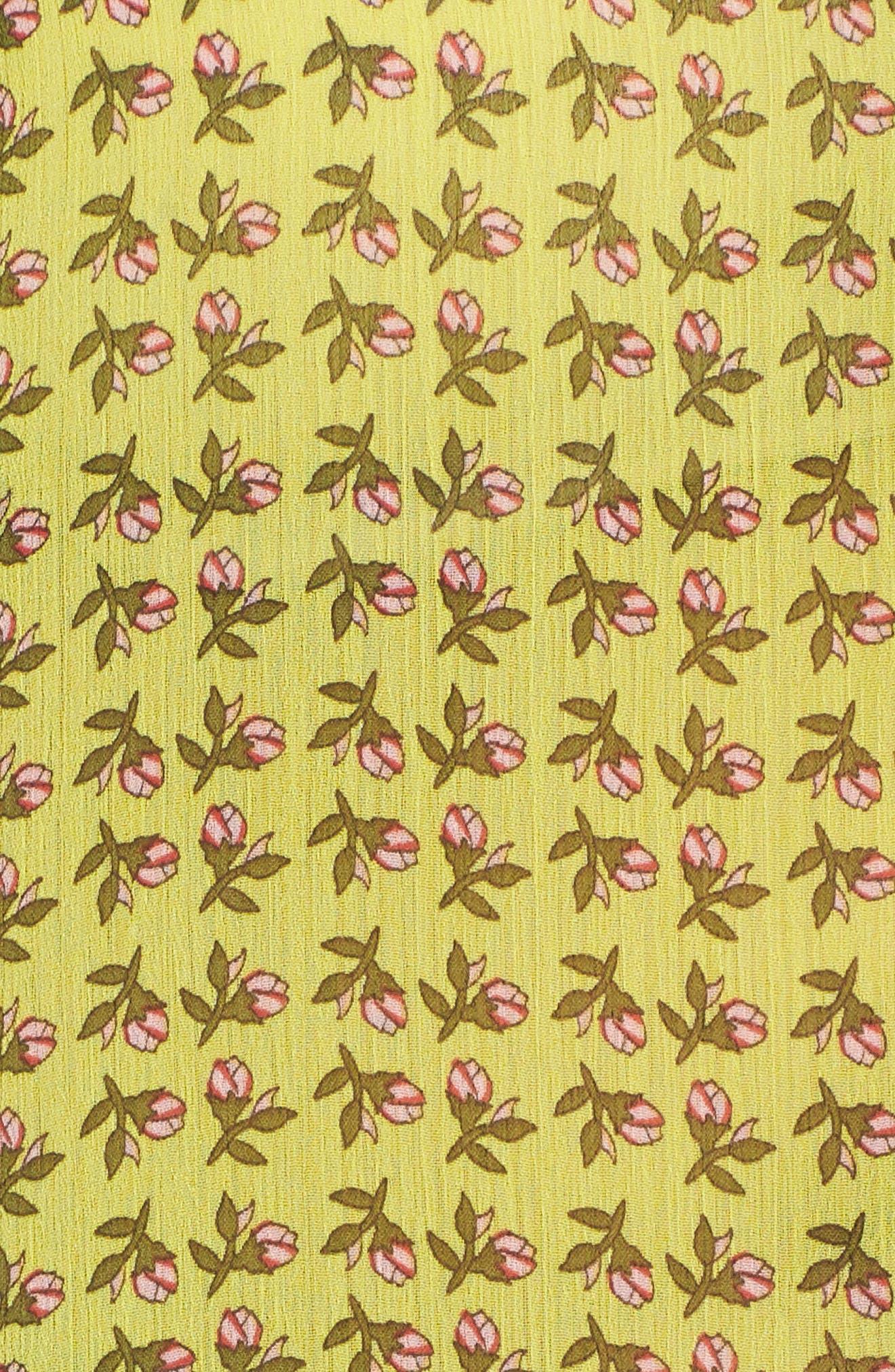 Jasmine Floral Roll Sleeve Top,                             Alternate thumbnail 6, color,                             702