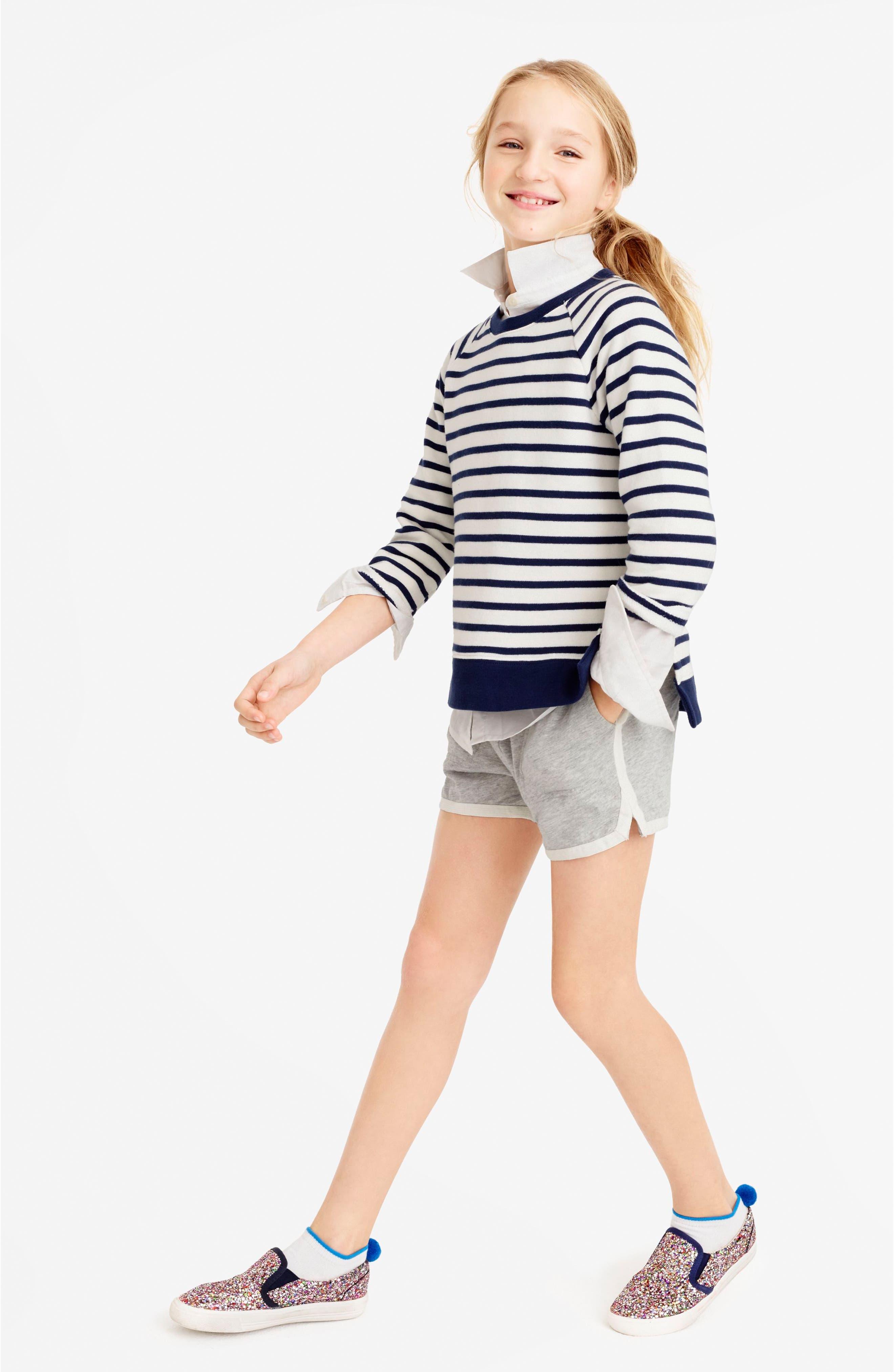 Ester Cotton Shorts,                             Alternate thumbnail 2, color,                             020