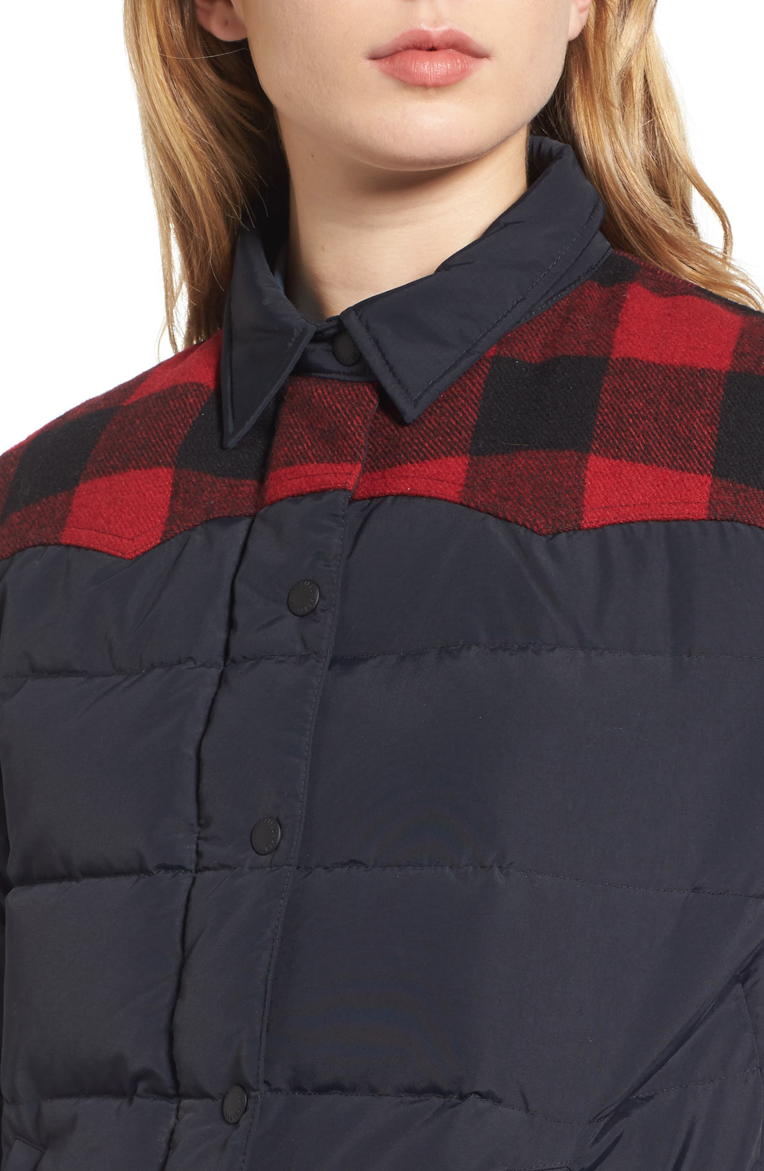 Down & Feather Fill Jacket,                             Alternate thumbnail 4, color,                             001
