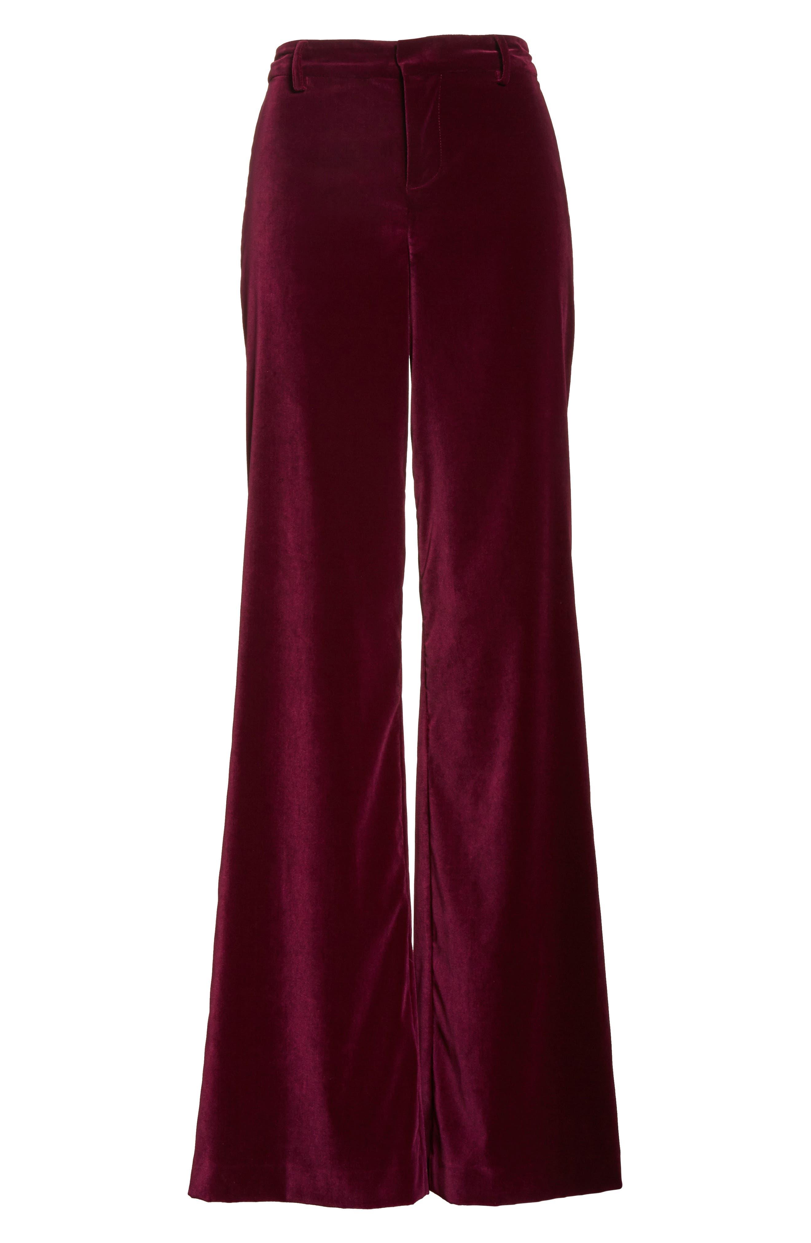 Paulette Velvet Tuxedo Pants,                             Alternate thumbnail 6, color,                             934