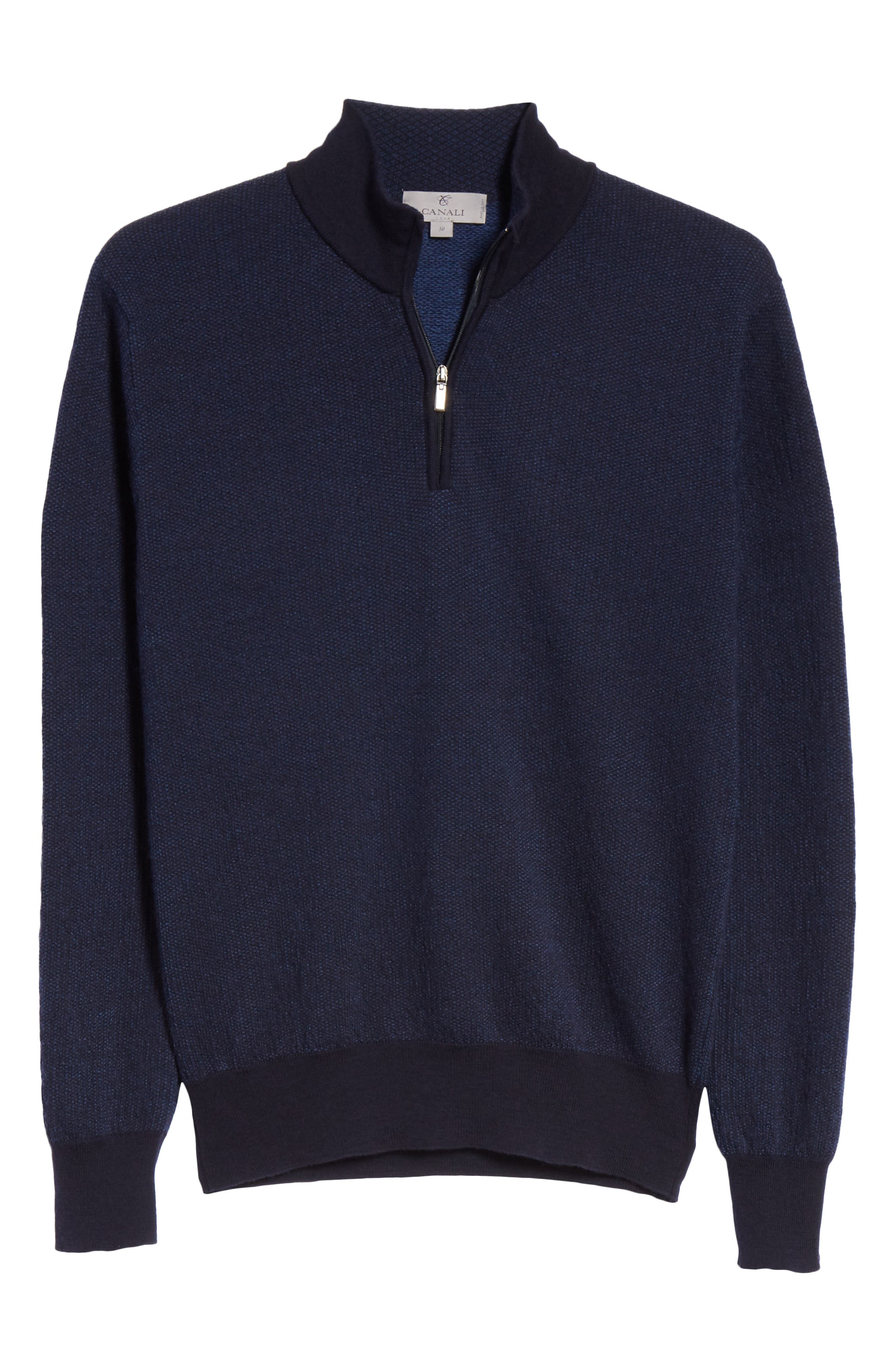 Quarter Zip Wool Sweater,                             Alternate thumbnail 6, color,                             400