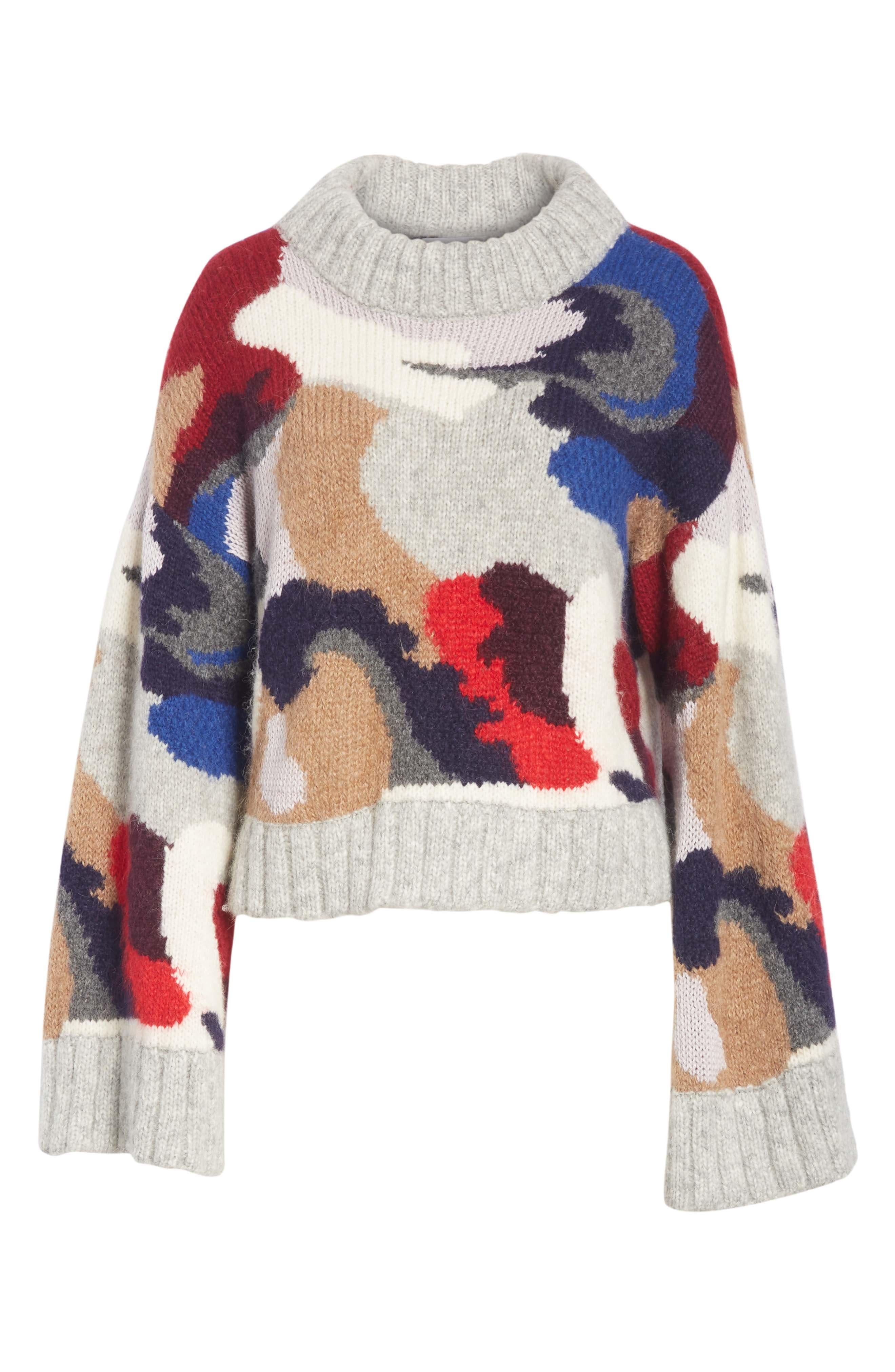 Kira Alpaca Blend Sweater,                             Alternate thumbnail 6, color,                             020