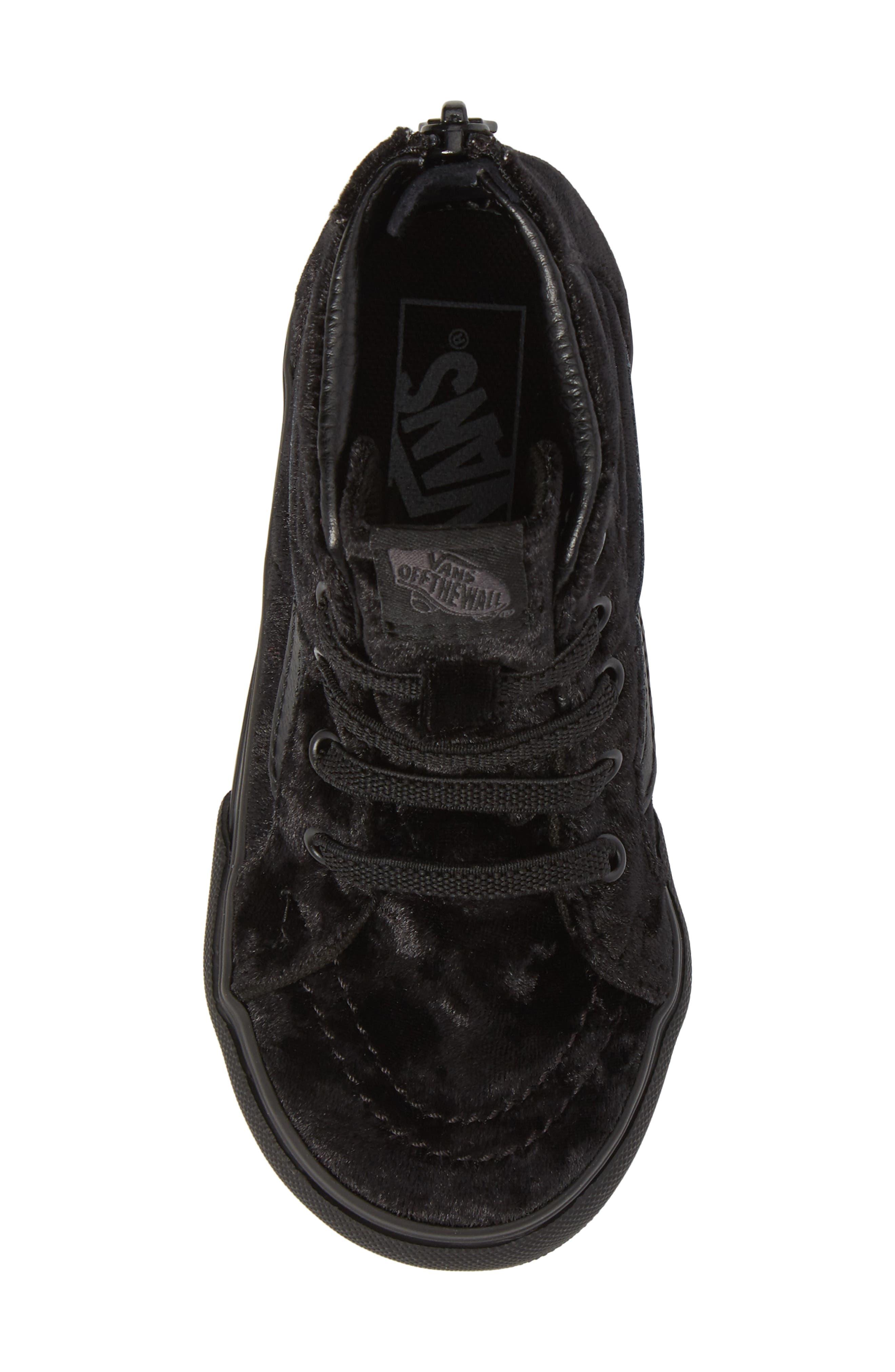 SK8-Hi Zip Sneaker,                             Alternate thumbnail 5, color,                             001