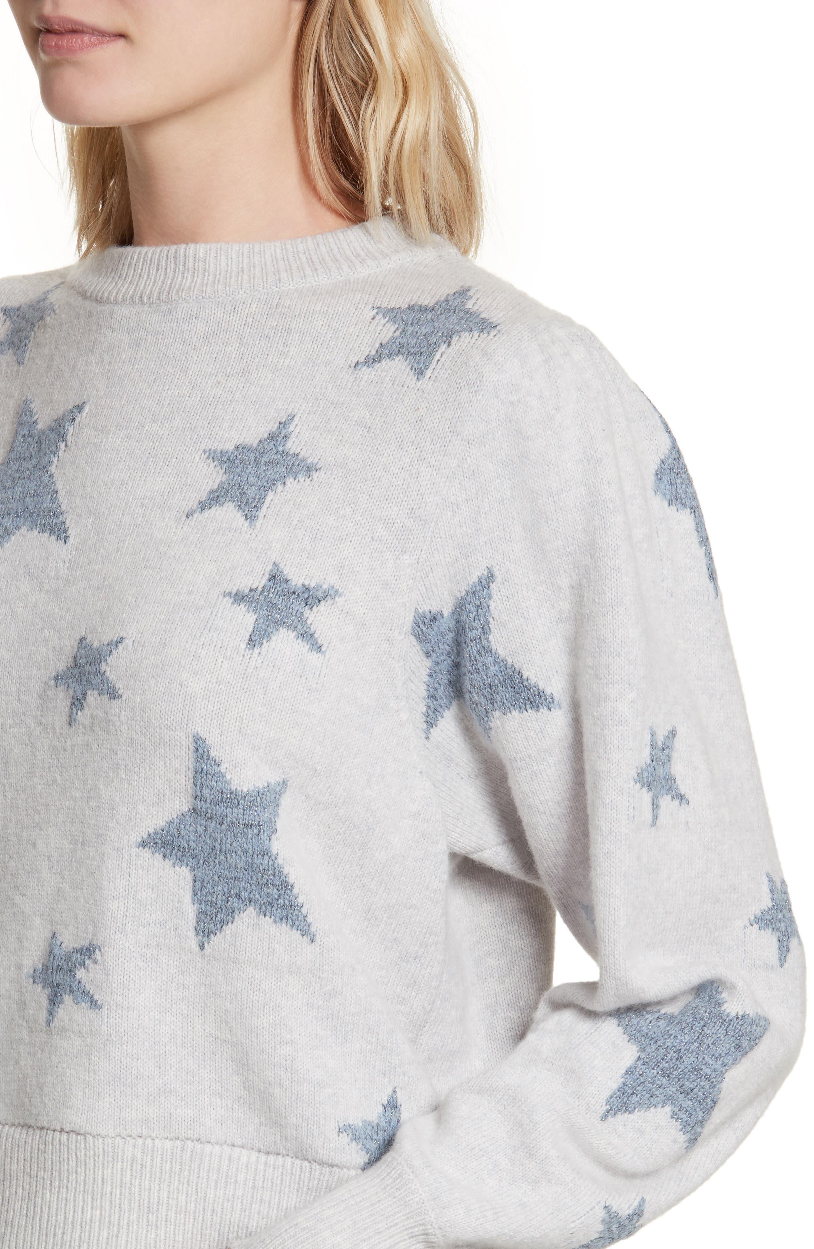 Star Intarsia Sweater,                             Alternate thumbnail 4, color,                             080