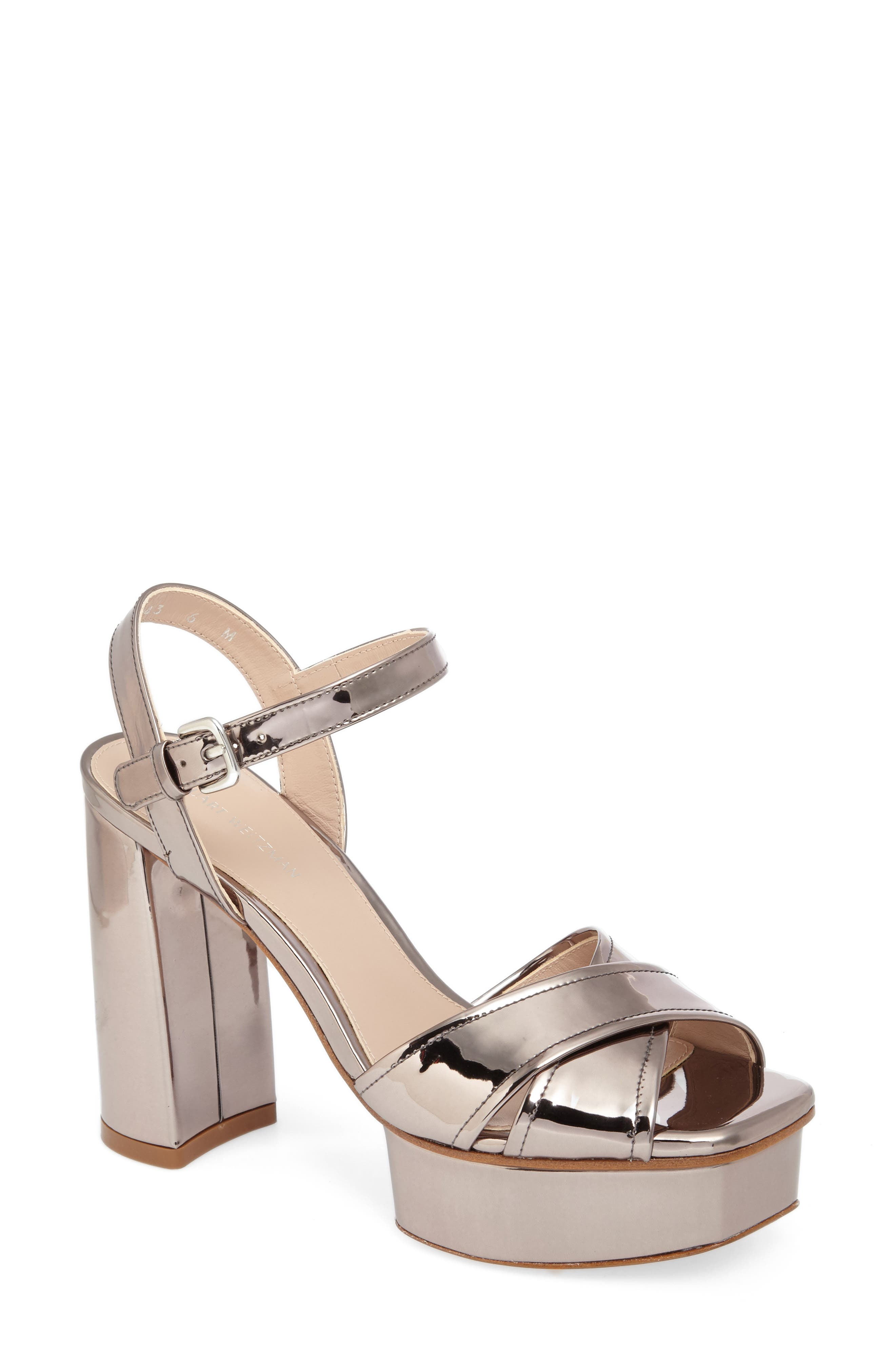 Exposed Platform Sandal,                             Main thumbnail 5, color,