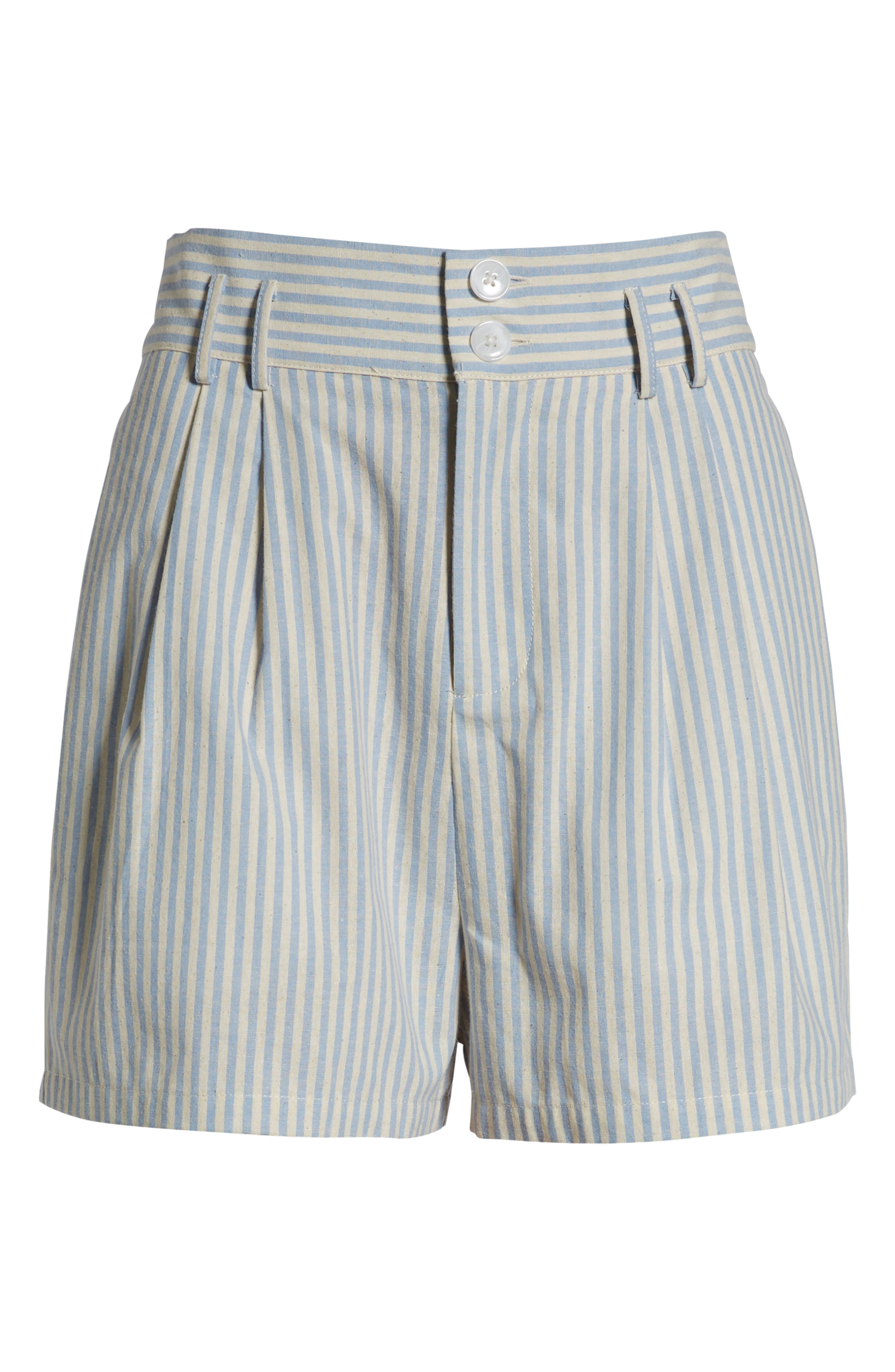 Striped Bermuda Shorts,                             Alternate thumbnail 6, color,                             BLUE