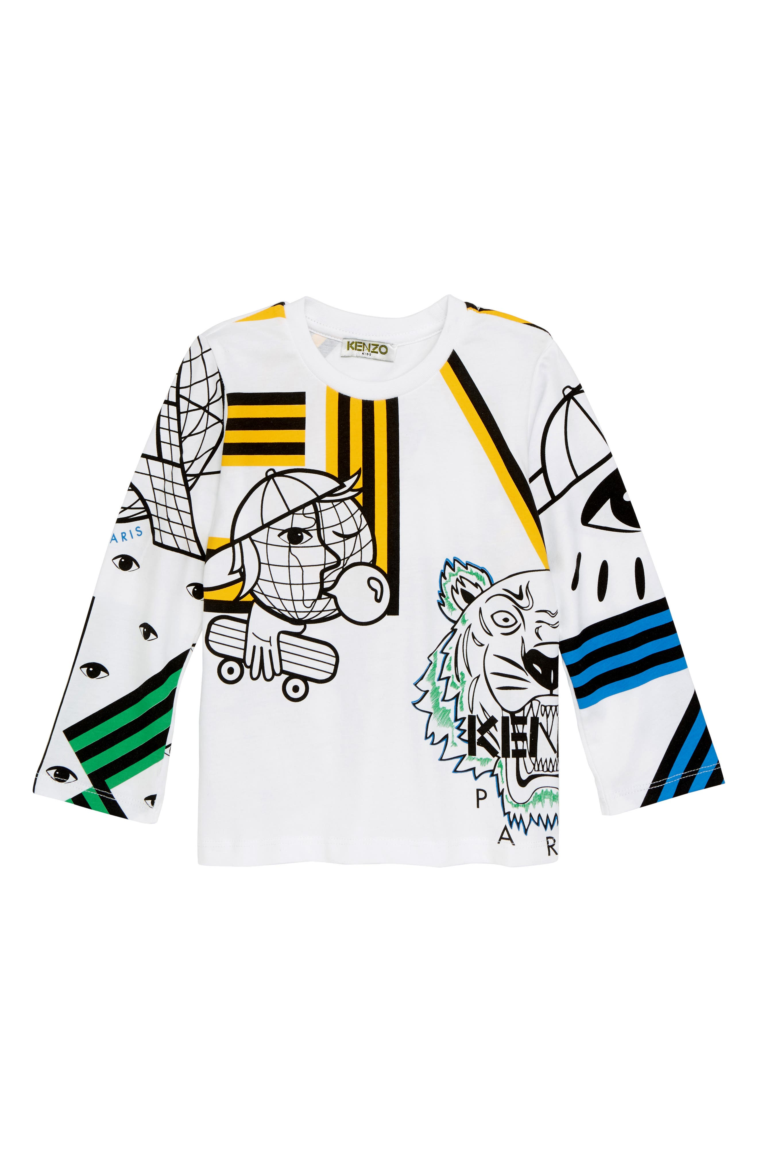 Multi Icons T-Shirt,                         Main,                         color, WHITE