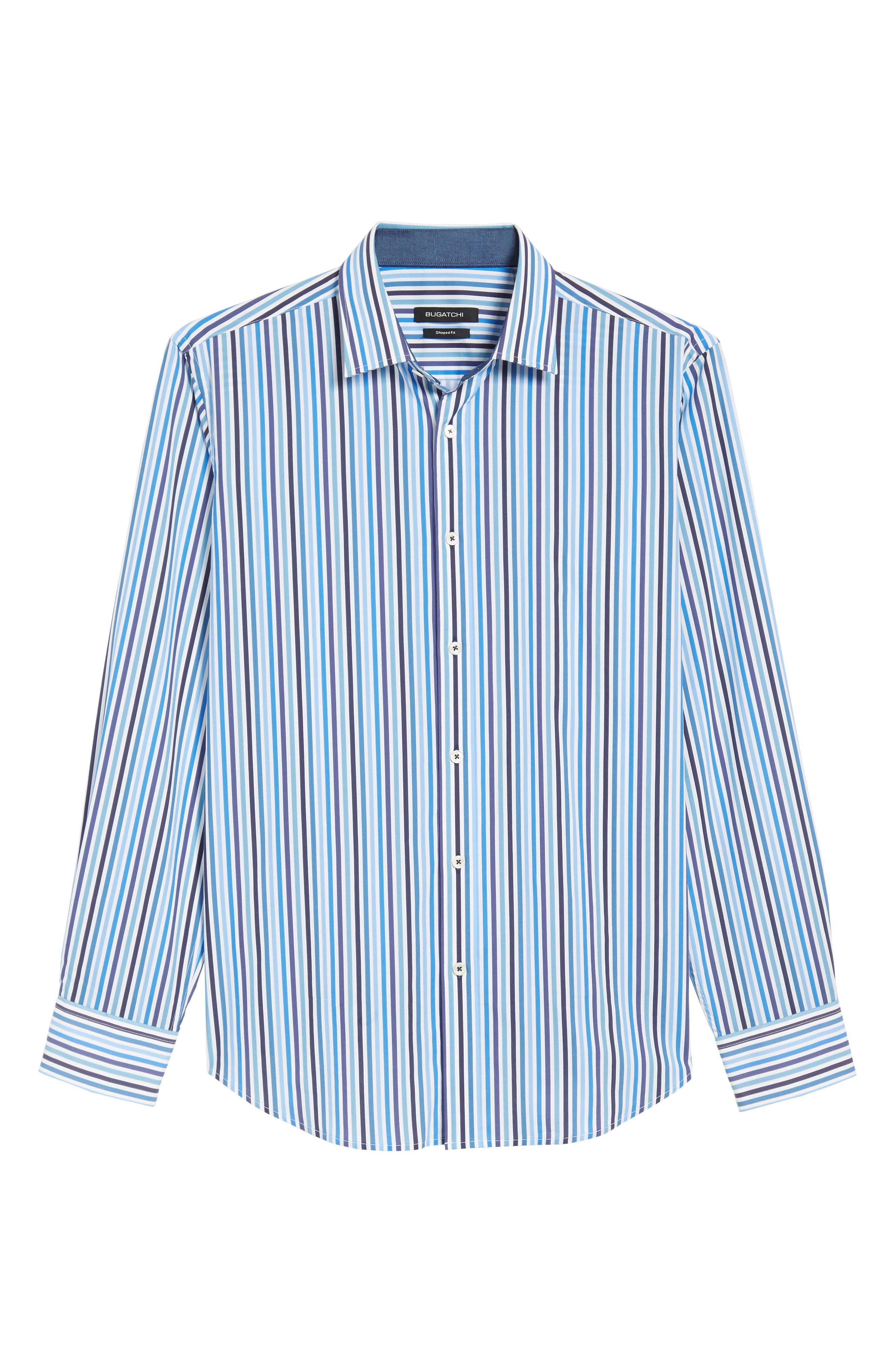 Shaped Fit Candy Stripe Sport Shirt,                             Alternate thumbnail 6, color,                             422