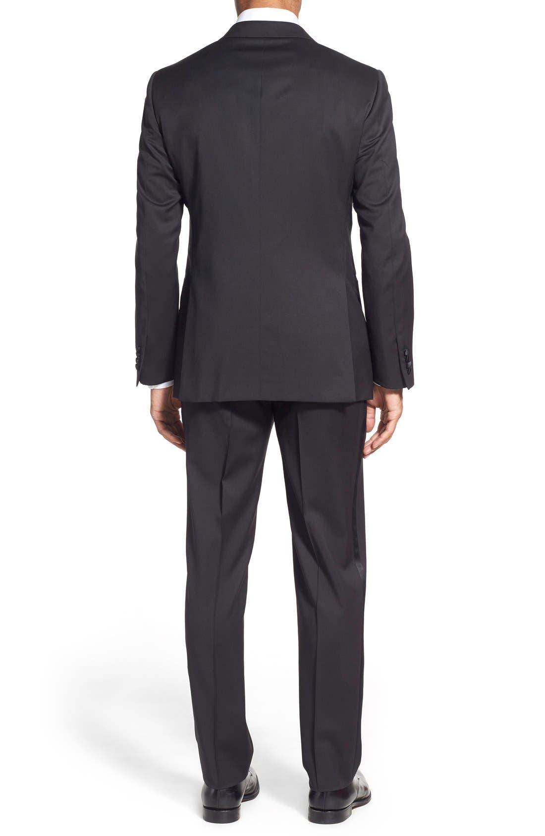 Classic Fit Wool Tuxedo,                             Alternate thumbnail 2, color,                             001