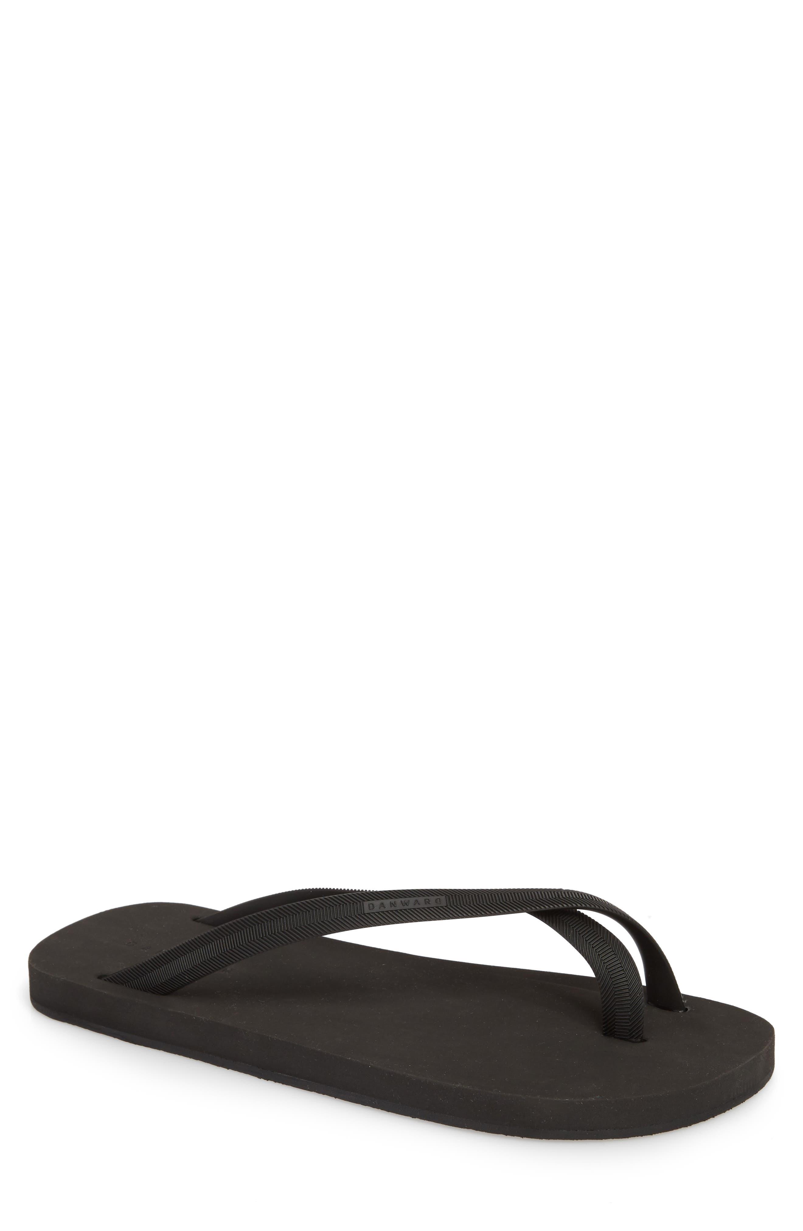 Cross Toe Flip Flop,                         Main,                         color, BLACK/ BLACK
