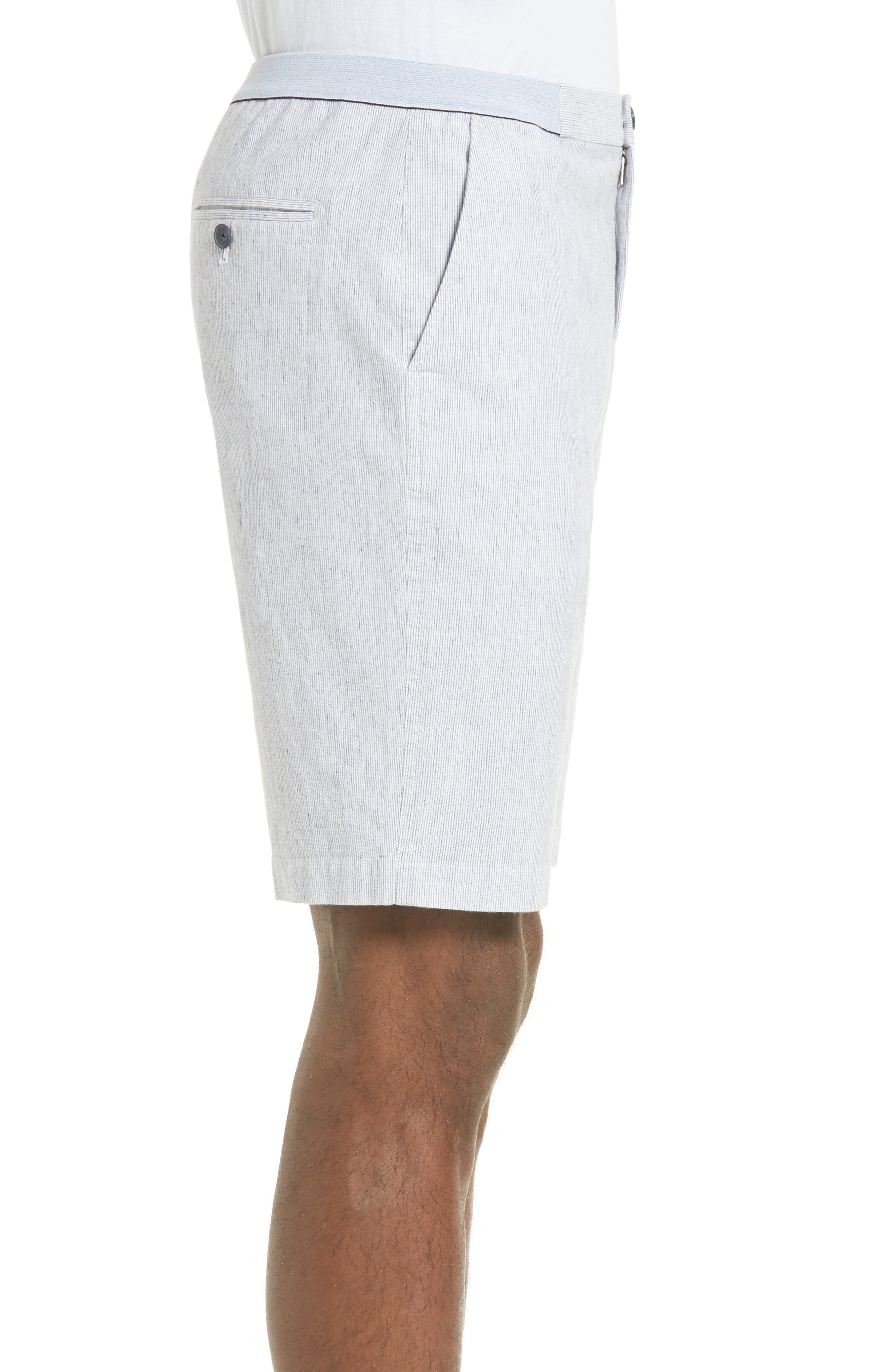 Elastic Waist Seersucker Shorts,                             Alternate thumbnail 2, color,                             410