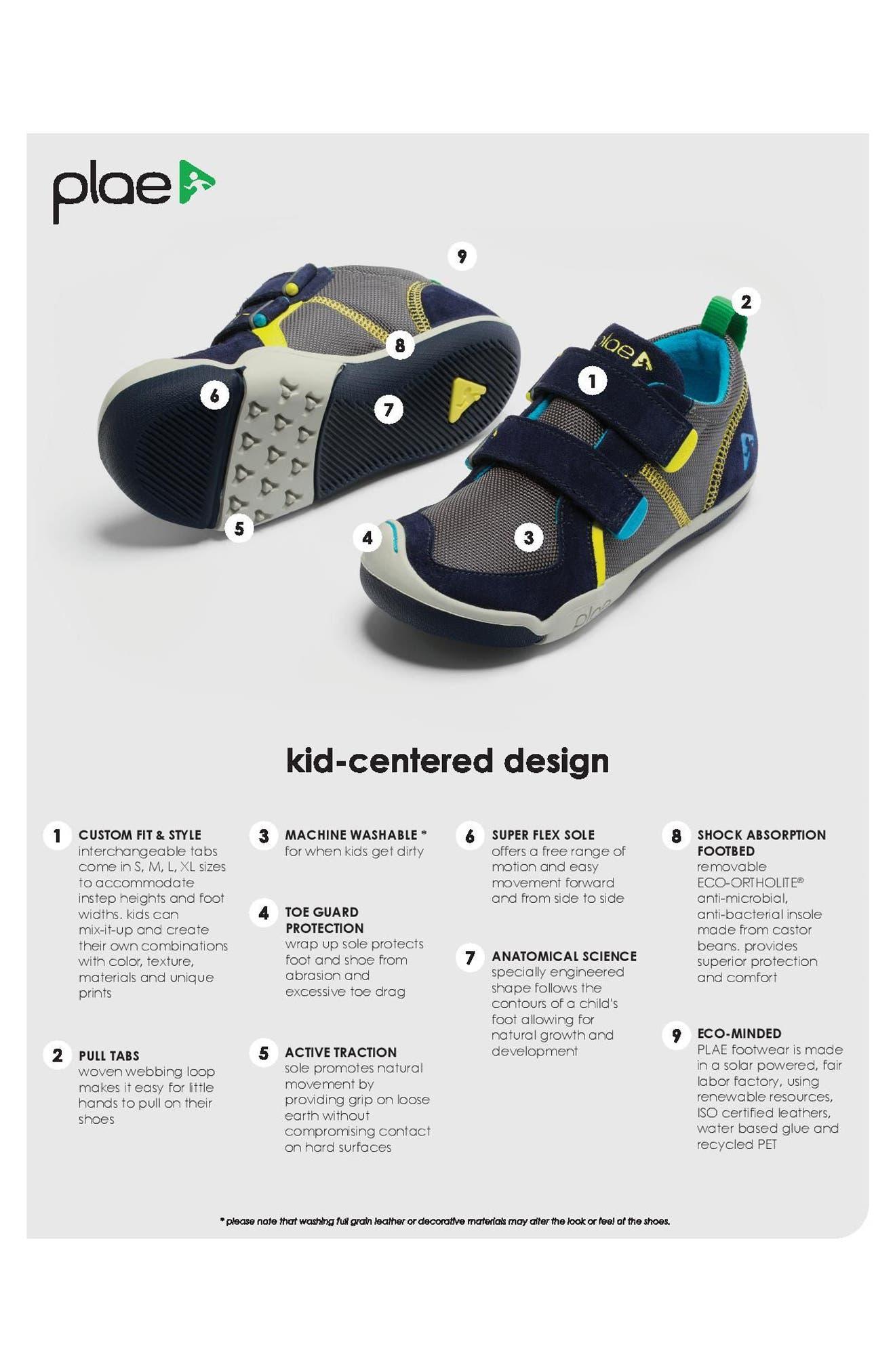 Ty Customizable Sneaker,                             Alternate thumbnail 5, color,                             DARK BLUE