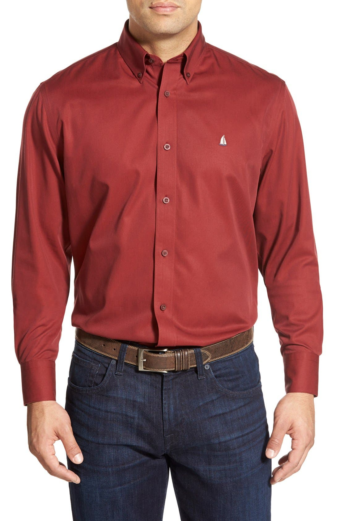 Smartcare<sup>™</sup> Traditional Fit Twill Boat Shirt,                             Main thumbnail 40, color,