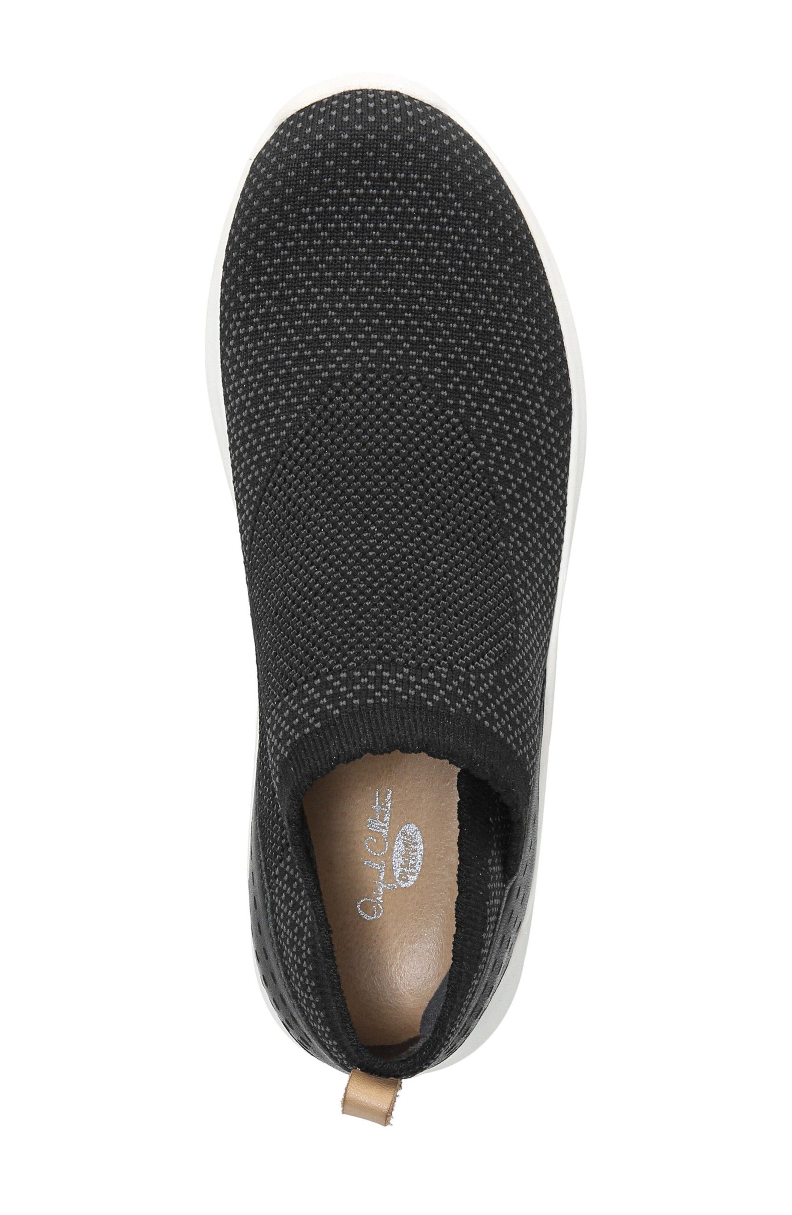 Fierce Knit Slip-On Sneaker,                             Alternate thumbnail 5, color,                             BLACK KNIT FABRIC
