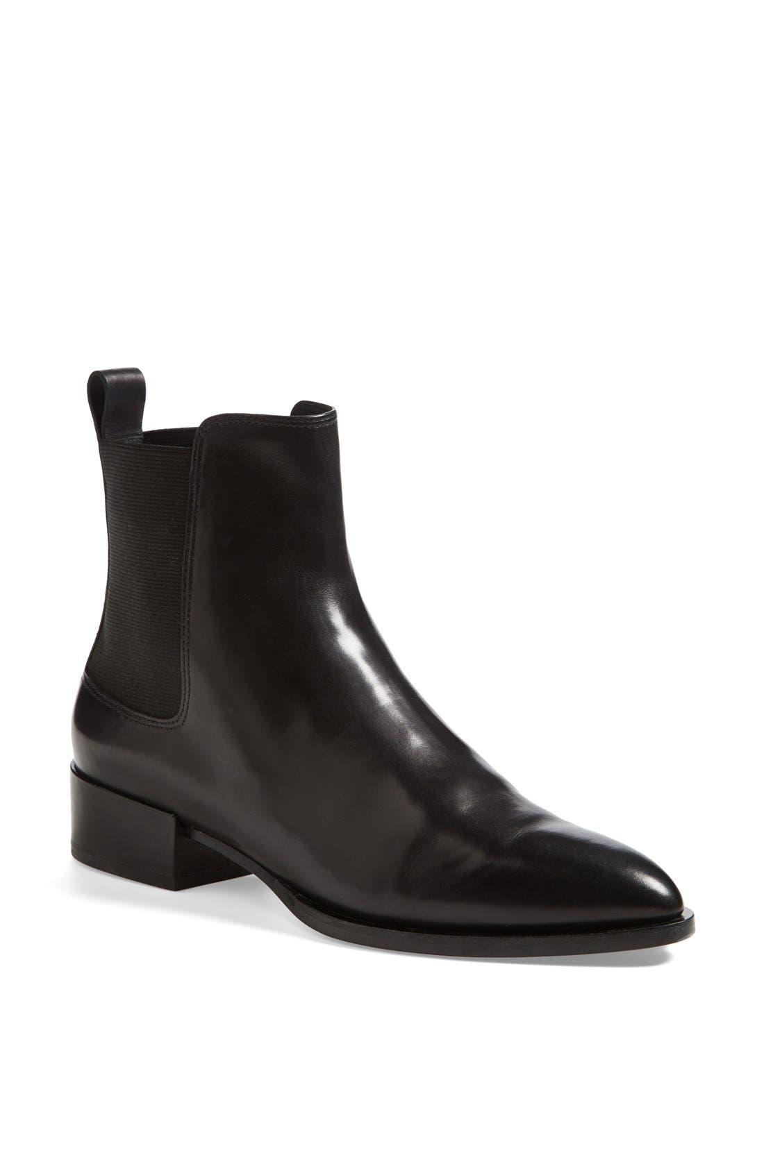 'Yarmon' Almond Toe Calfskin Leather Chelsea Boot,                             Main thumbnail 1, color,                             002