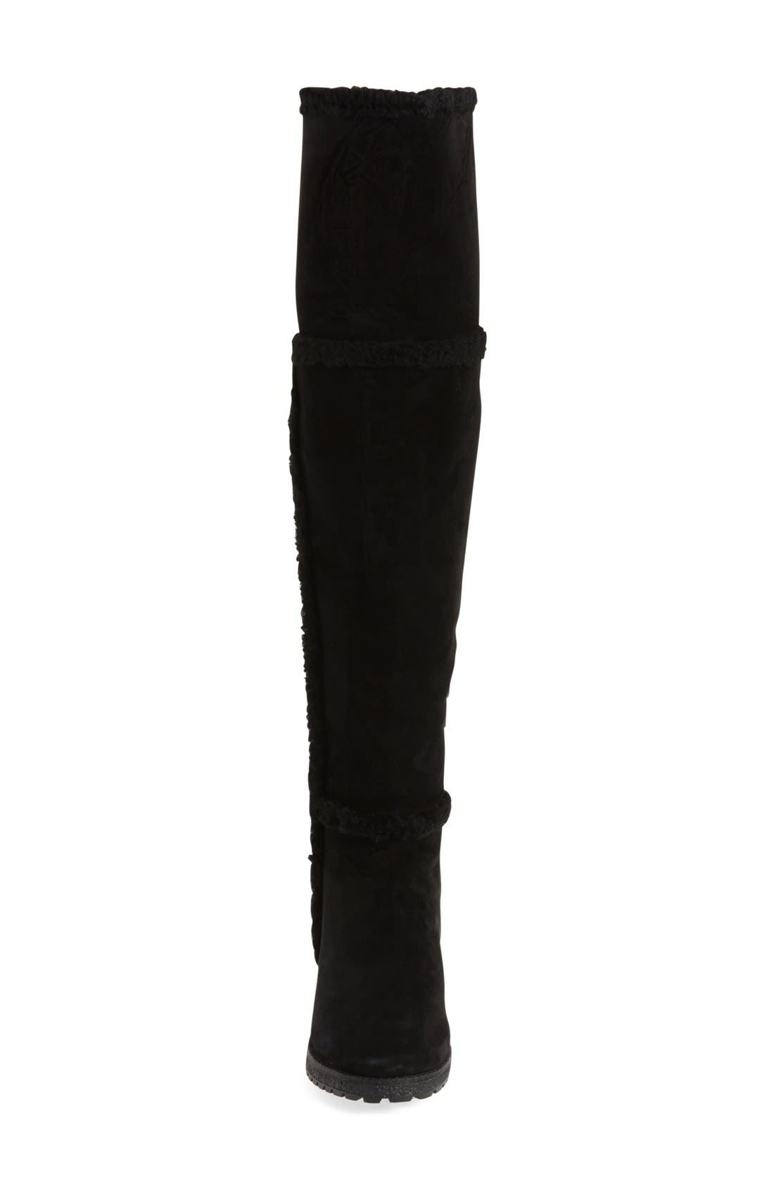 'Tamara' Genuine Shearling Over the Knee Boot,                             Alternate thumbnail 7, color,