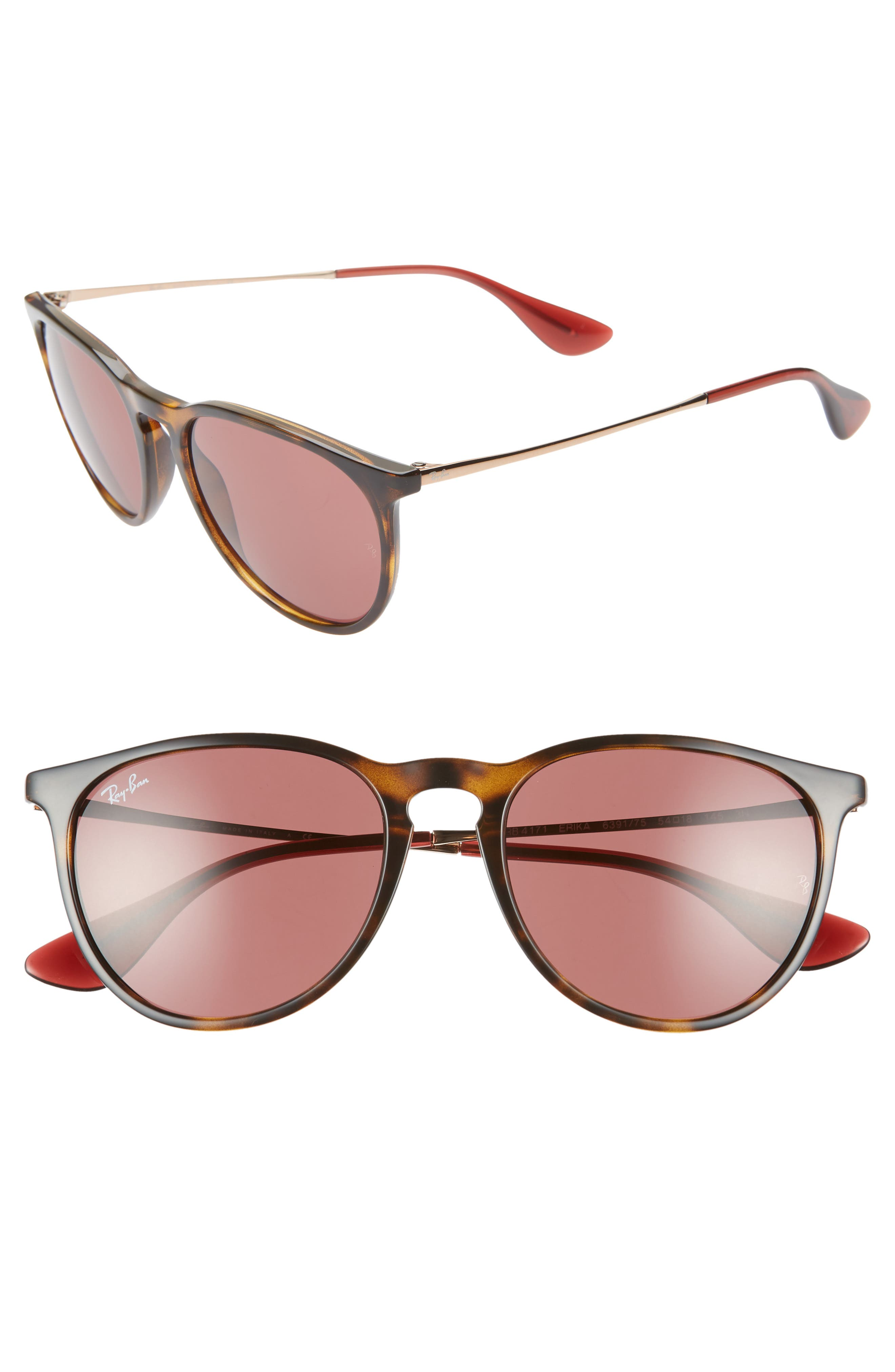 Ray-Ban Erika Classic 5m Sunglasses - Tortoise/ Red Solid