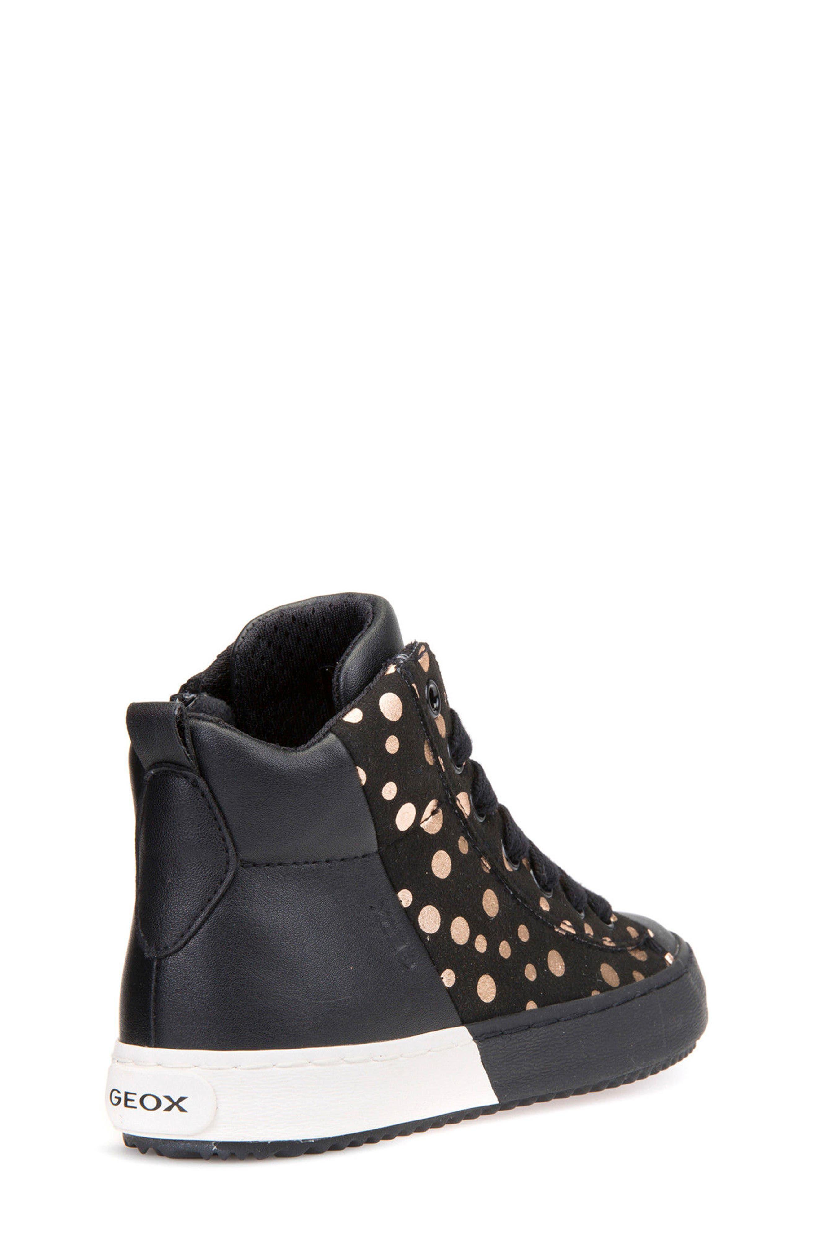 Kalispera Girl Dotted High Top Sneaker,                             Alternate thumbnail 2, color,                             016