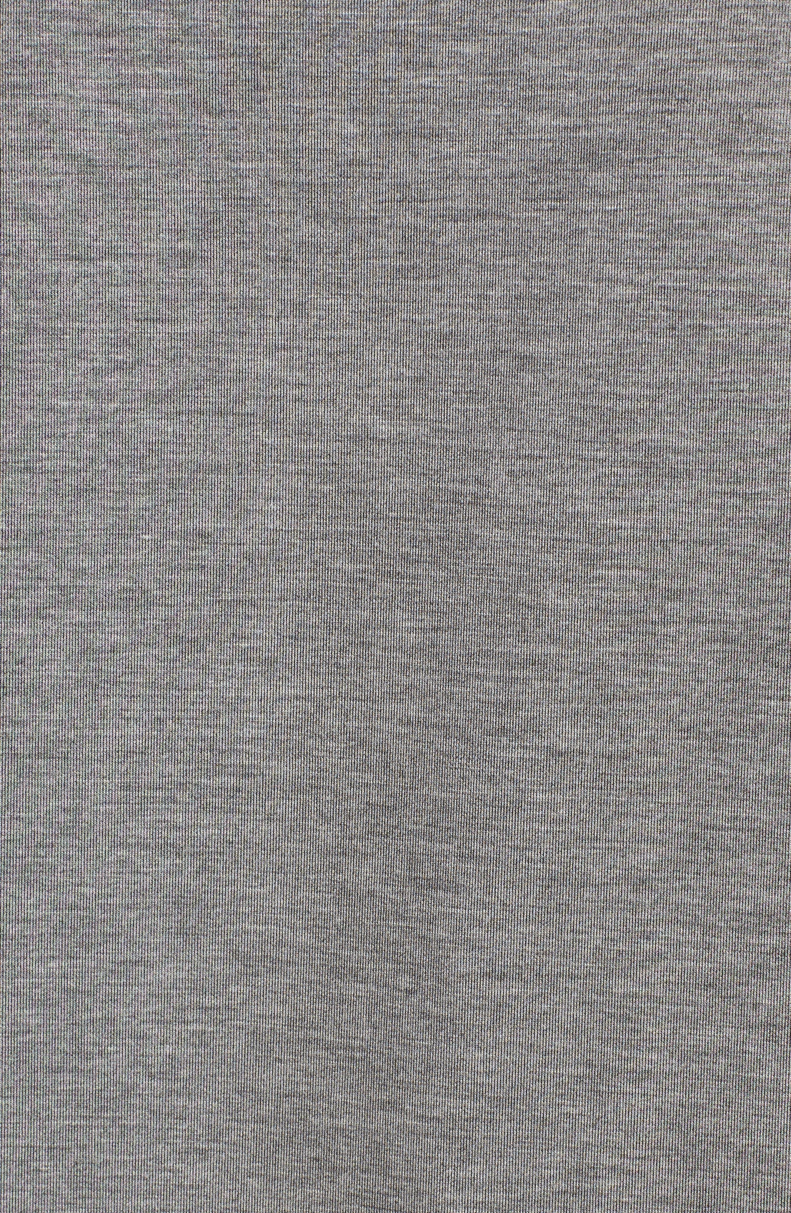 Mixed Media Sweatshirt Dress,                             Alternate thumbnail 5, color,                             030