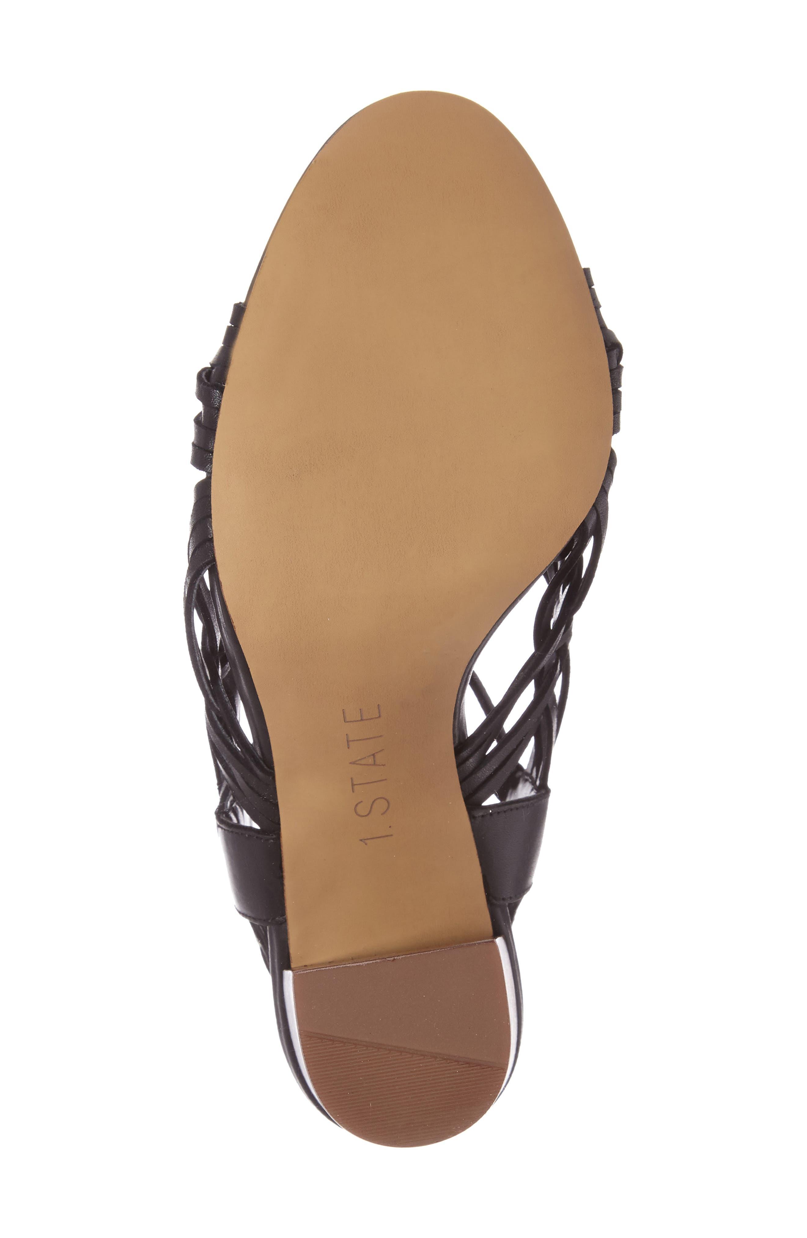 Shannen Block Heel Sandal,                             Alternate thumbnail 4, color,                             001