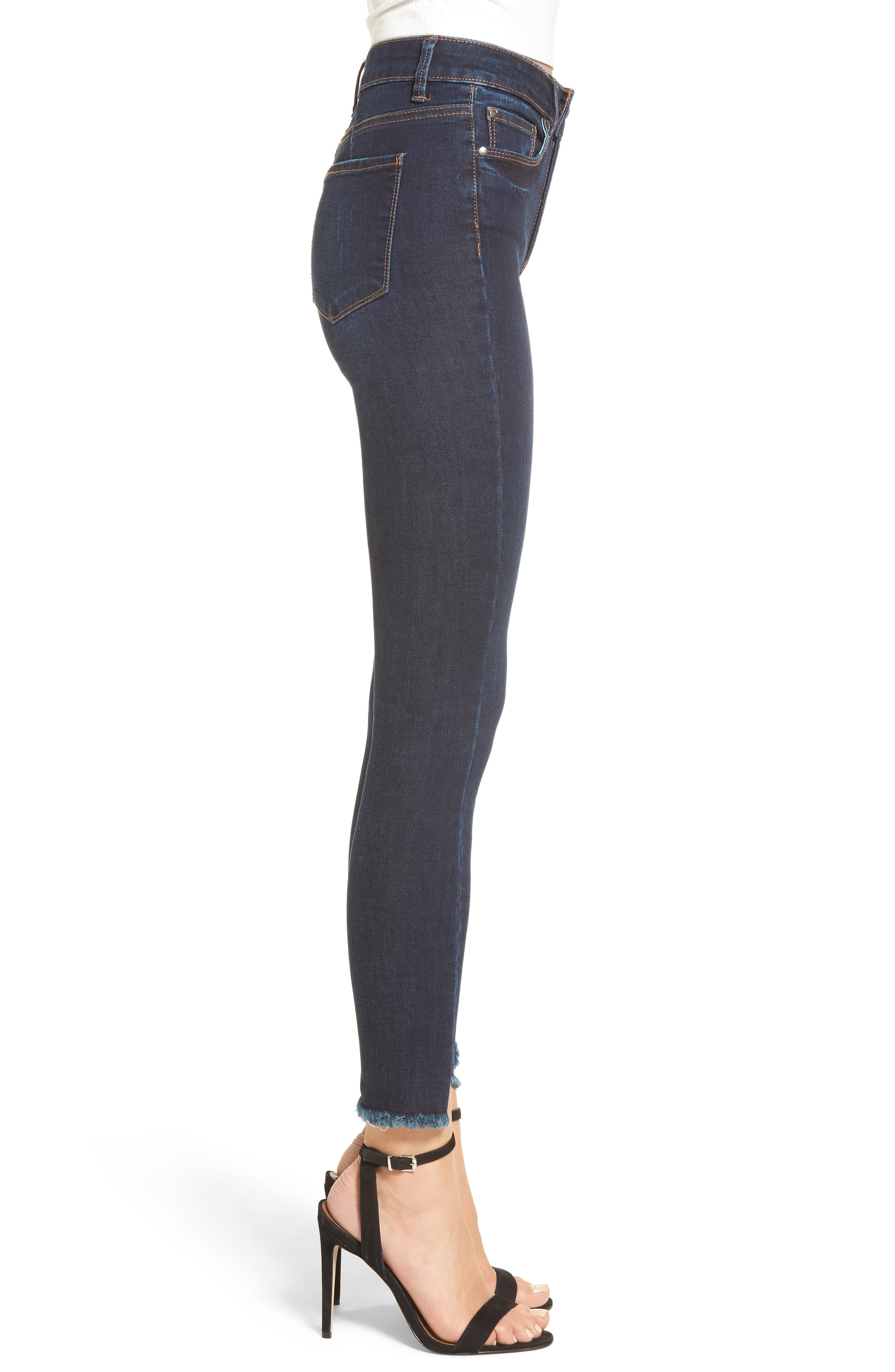 Clark High Waist Skinny Jeans,                             Alternate thumbnail 3, color,                             400