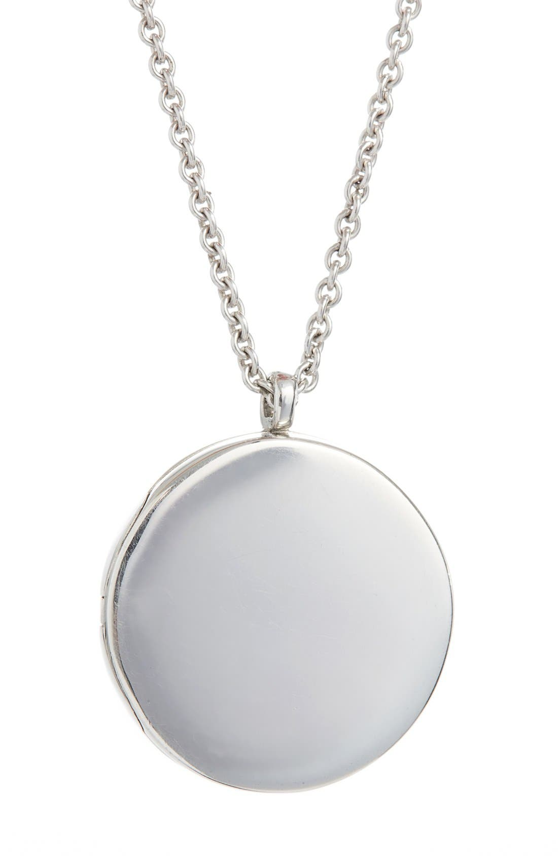 Large Medallion Pendant Necklace,                         Main,                         color, SILVER
