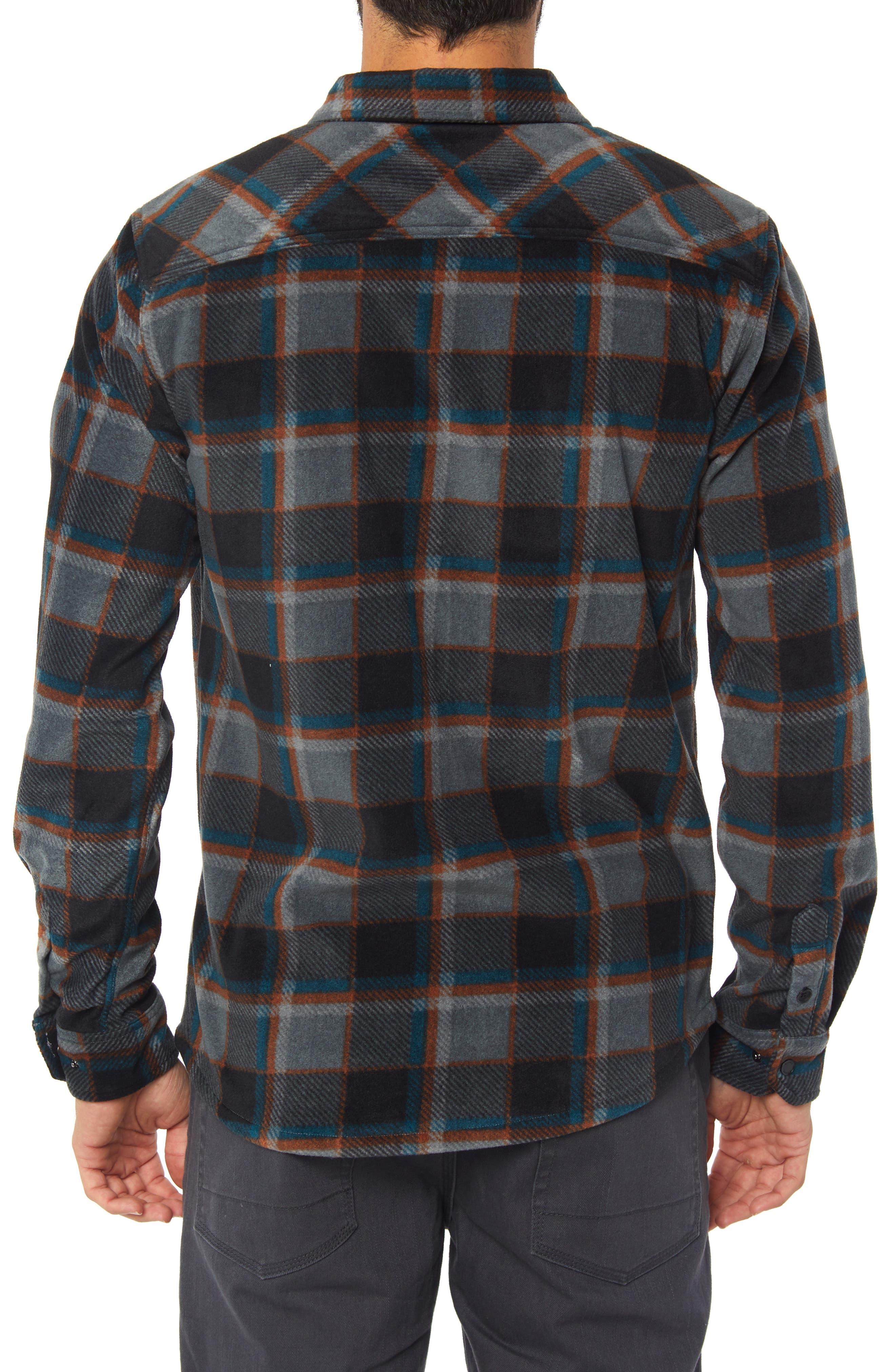 Glacier Crest Shirt,                             Alternate thumbnail 2, color,                             ASPHALT