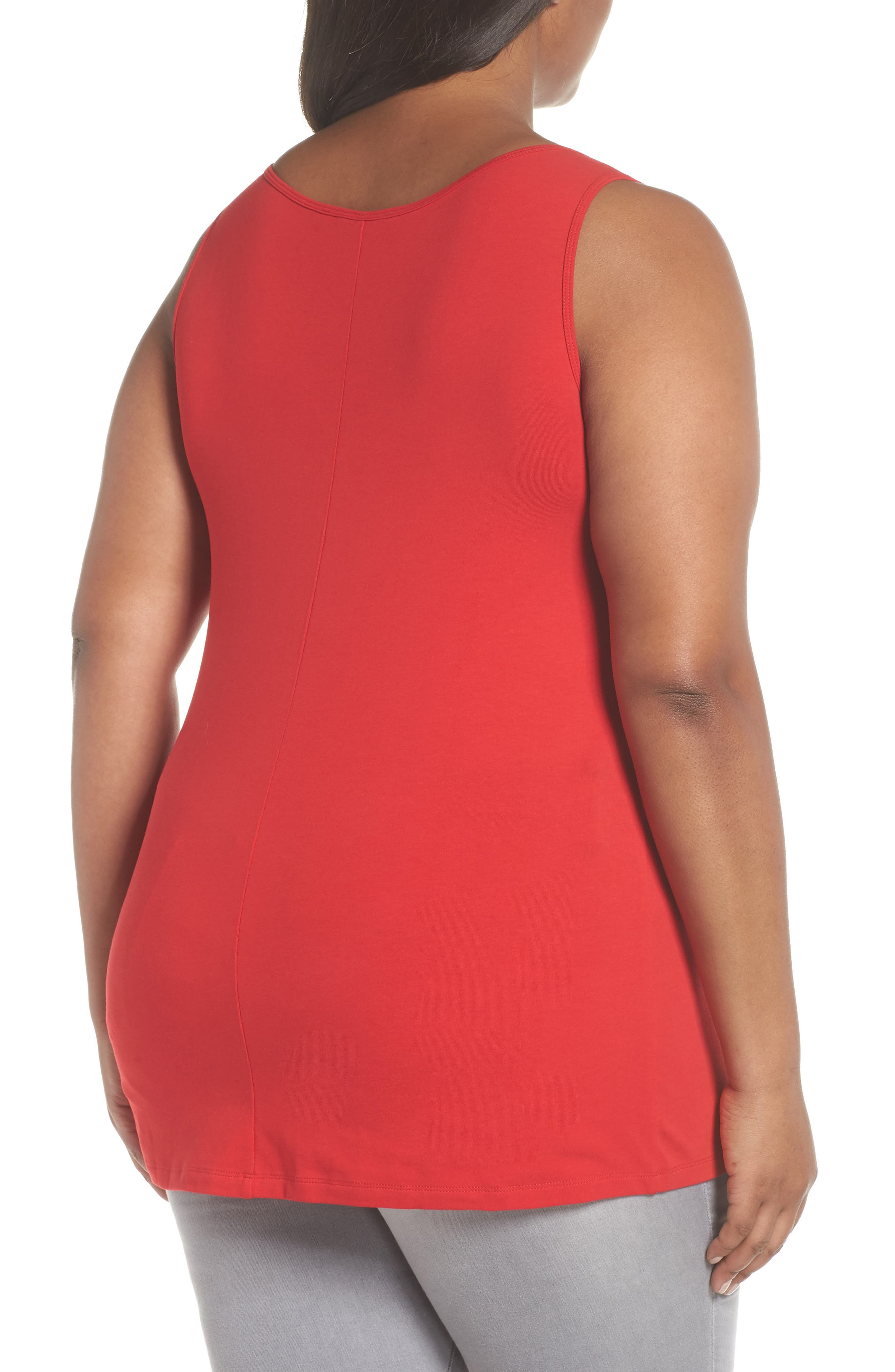 Perfect Scoop Tank,                             Alternate thumbnail 2, color,                             RED SANGRIA