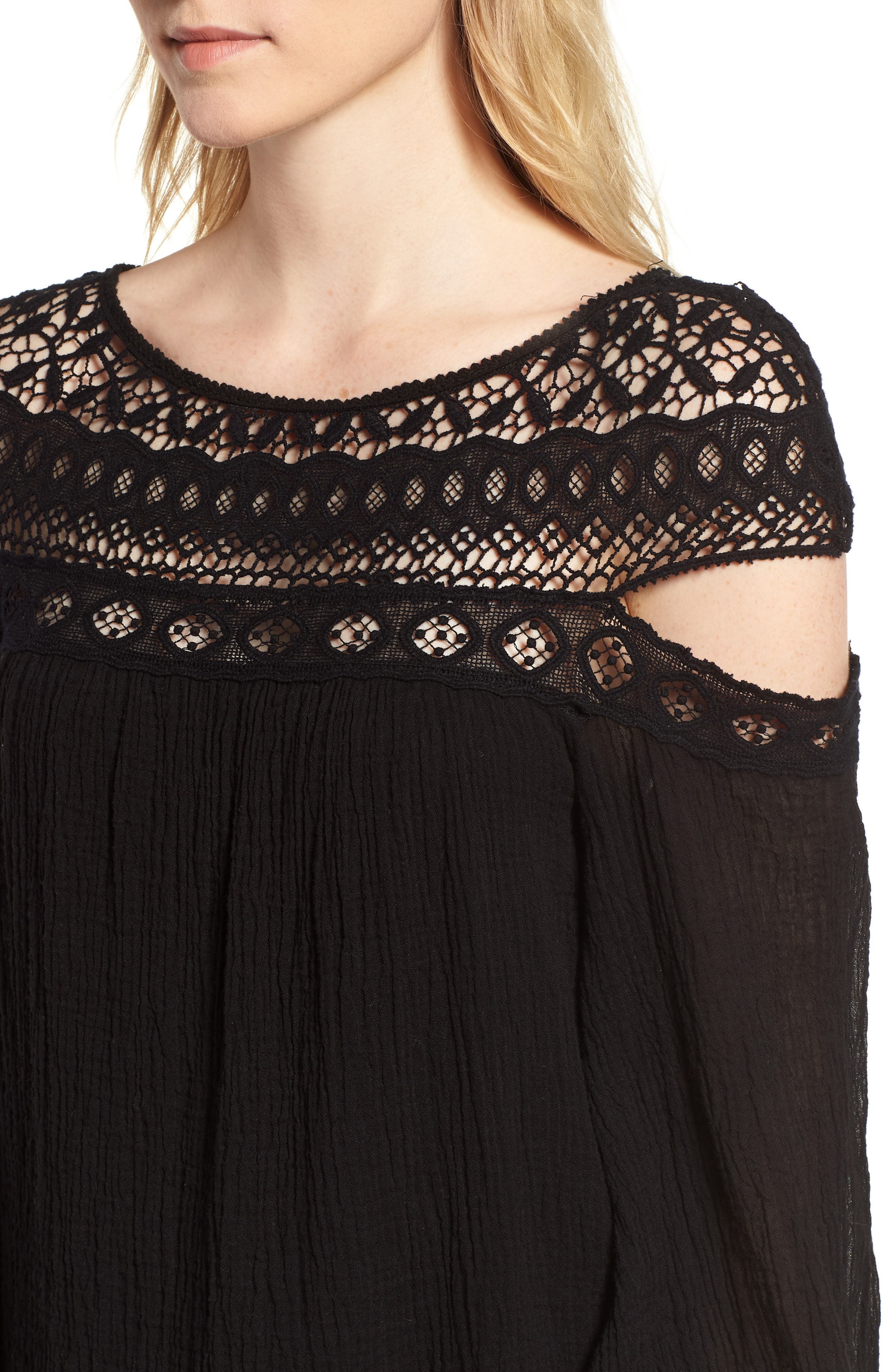 Cutout Sleeve Top,                             Alternate thumbnail 8, color,