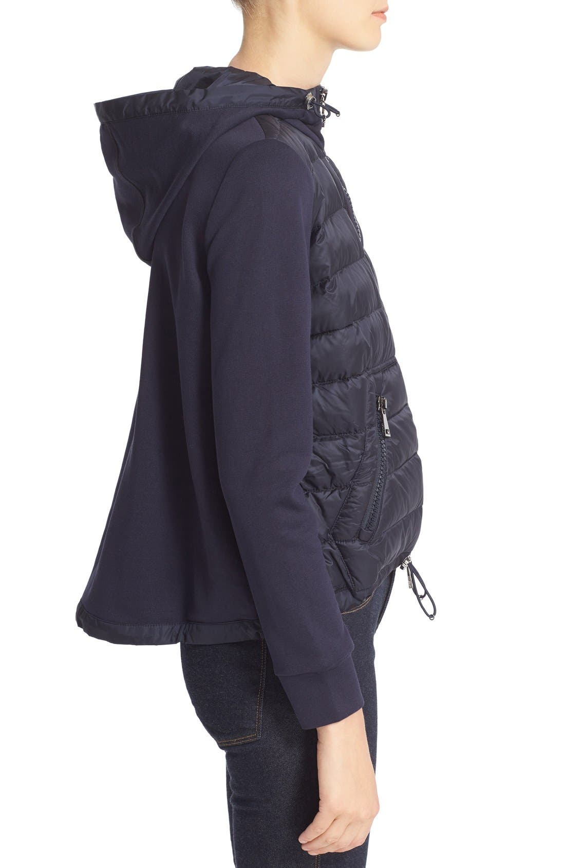 Down Front Hooded Knit Jacket,                             Alternate thumbnail 5, color,                             419