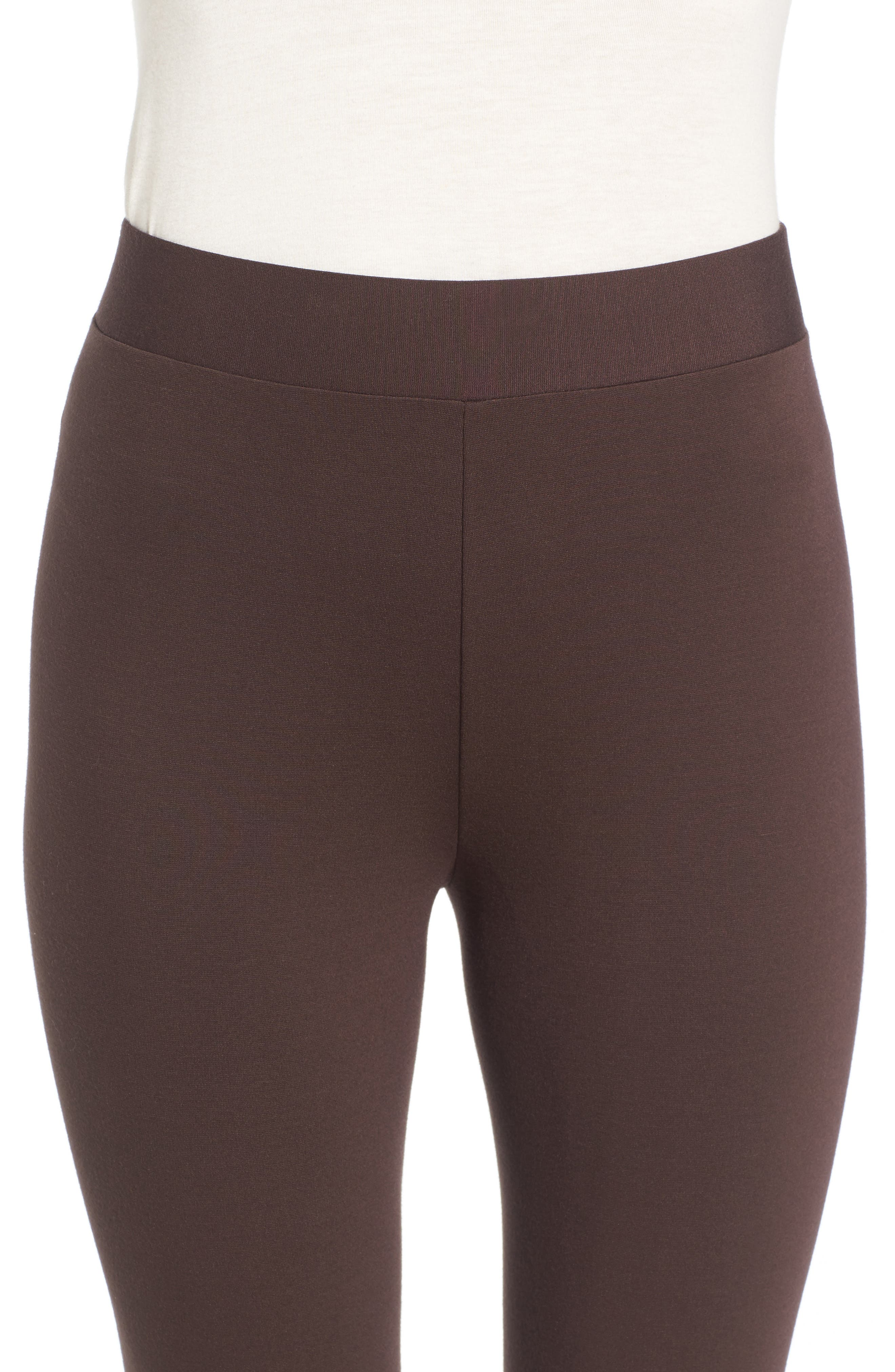 Two by Vince Camuto Seamed Back Leggings,                             Alternate thumbnail 4, color,                             ESPRESSO
