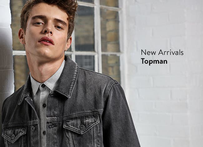 Check out the new arrivals. Clothing for men from Topman.