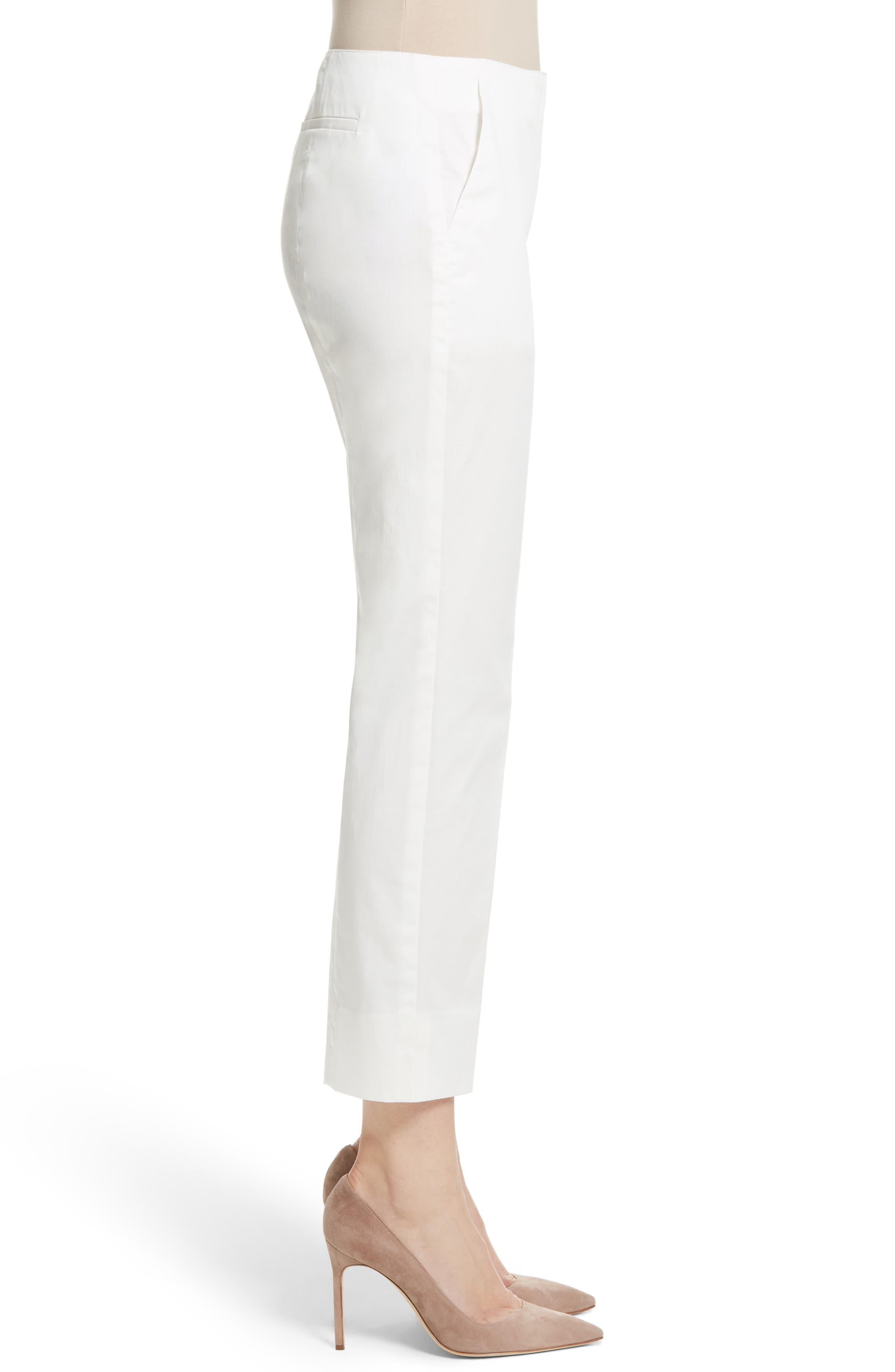 Stretch Cotton Ankle Pants,                             Alternate thumbnail 3, color,