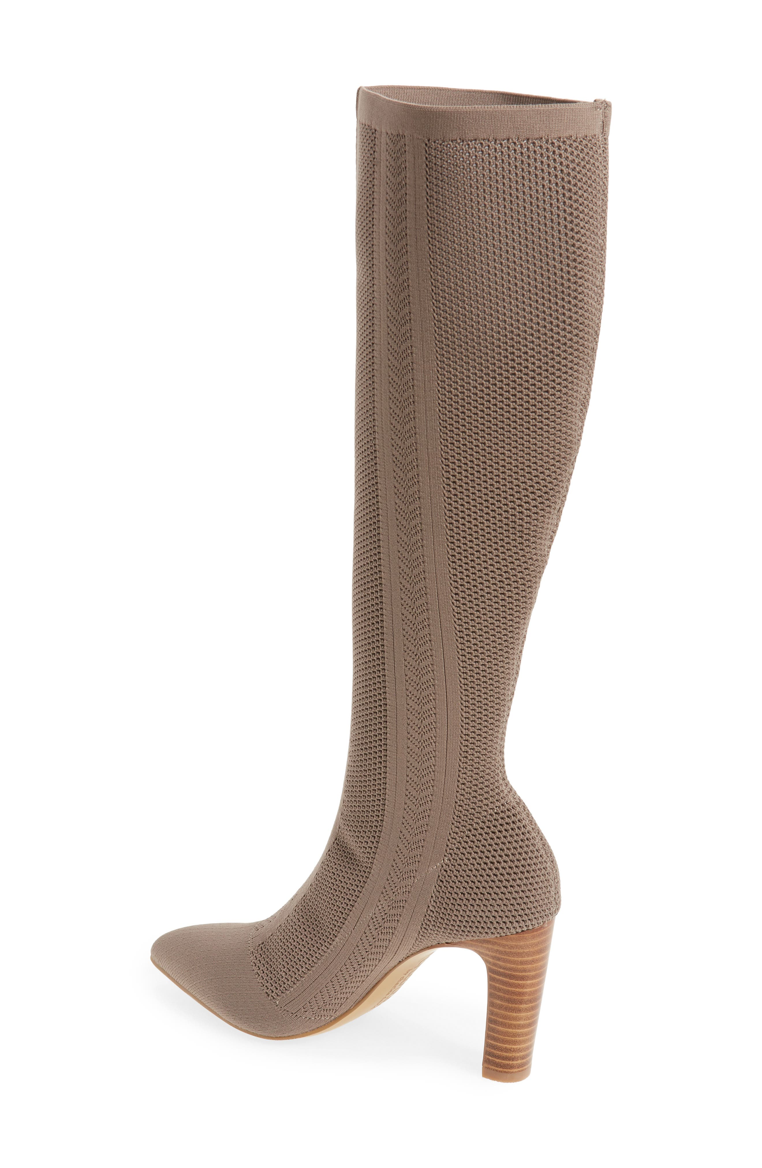 Davis Knit Boot,                             Alternate thumbnail 2, color,                             TAUPE FABRIC