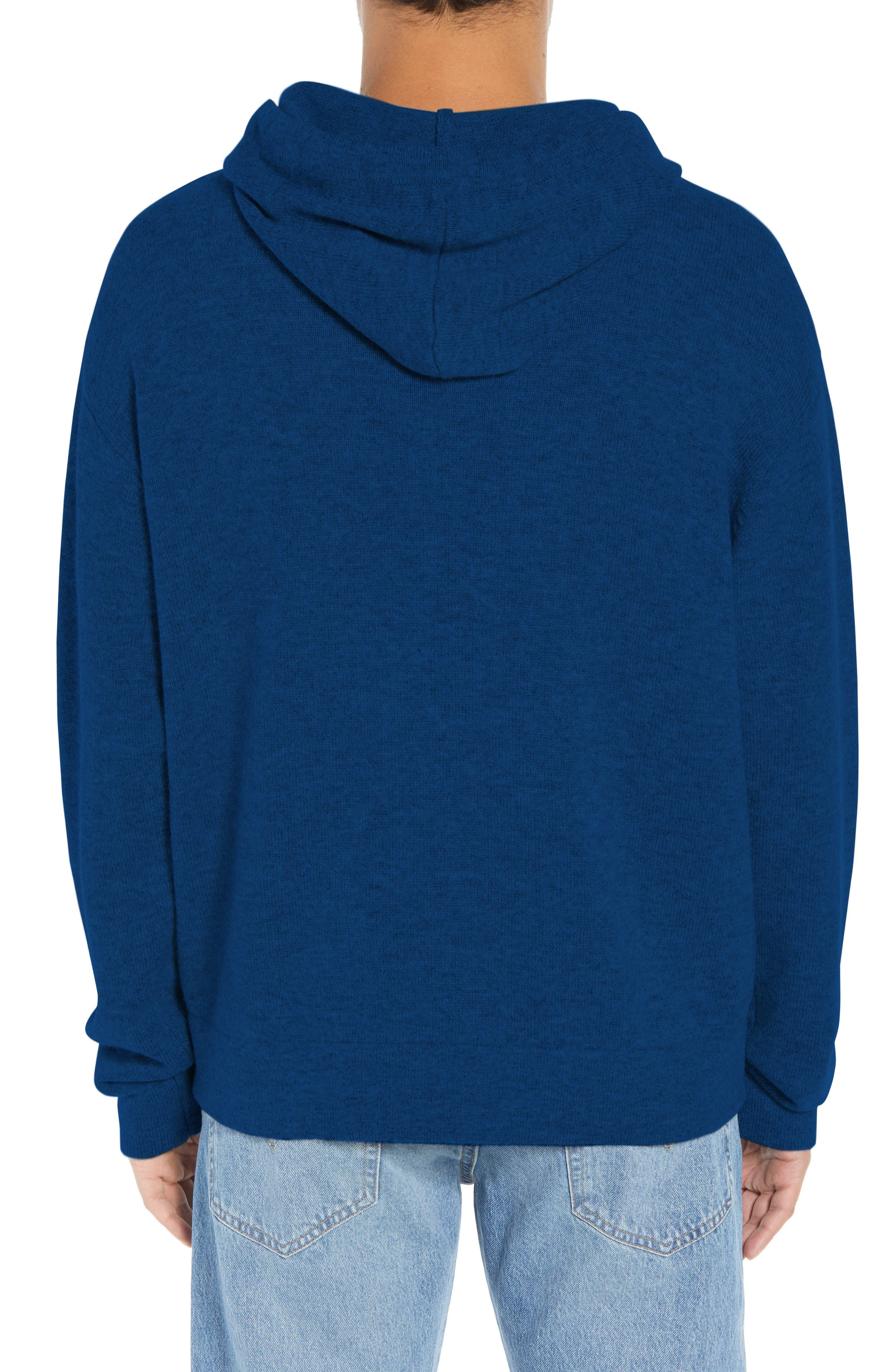 Classic Fit Hoodie Sweater,                             Alternate thumbnail 2, color,                             NAVY