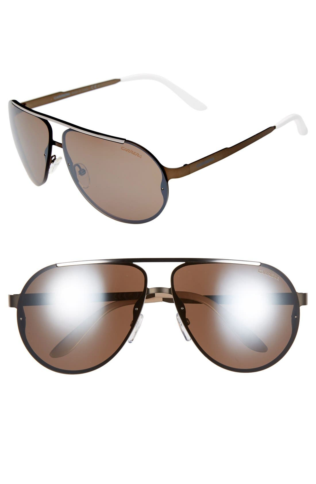 65mm Aviator Sunglasses,                             Main thumbnail 5, color,