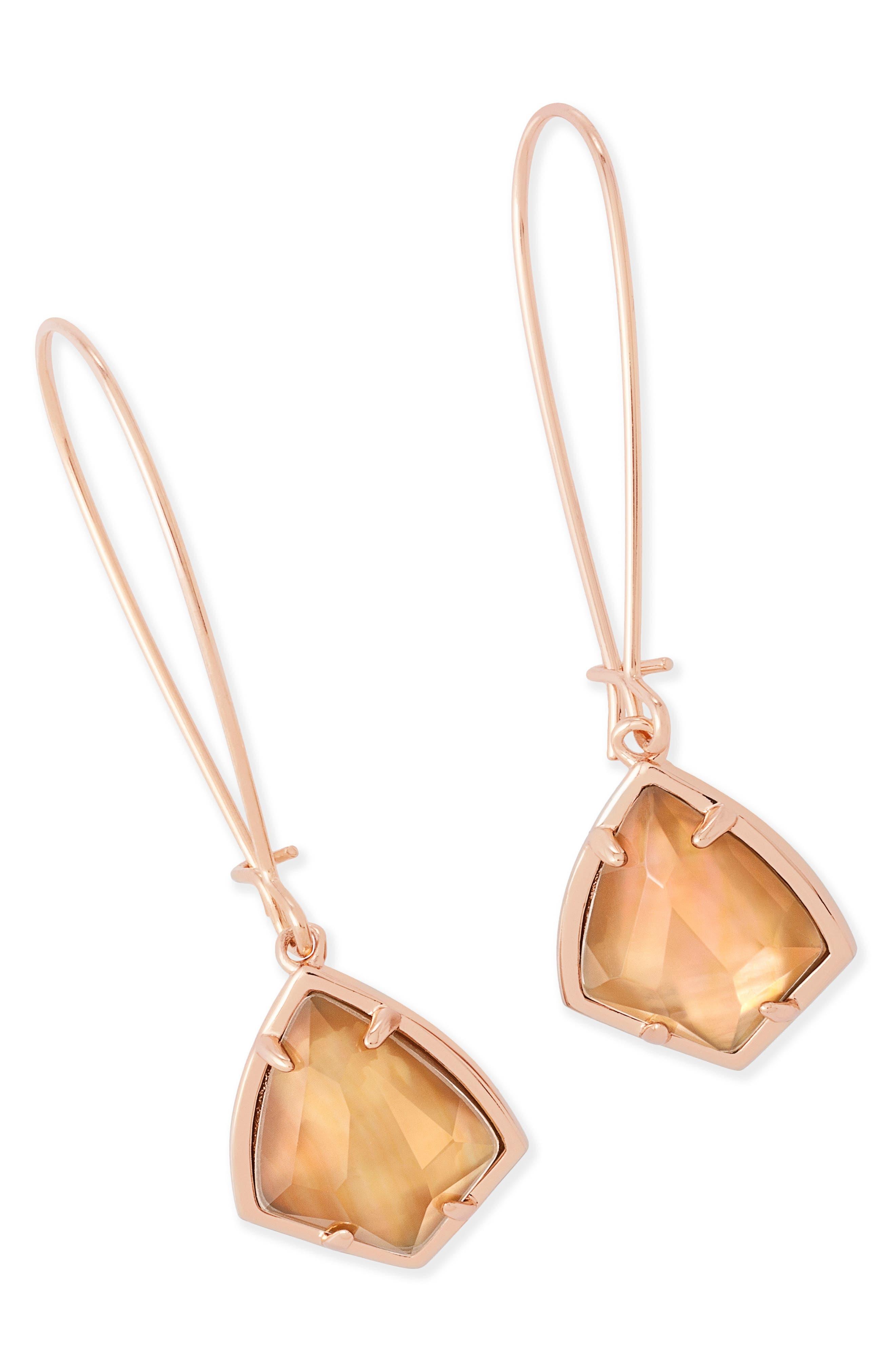 Carla Semiprecious Stone Drop Earrings,                             Alternate thumbnail 15, color,
