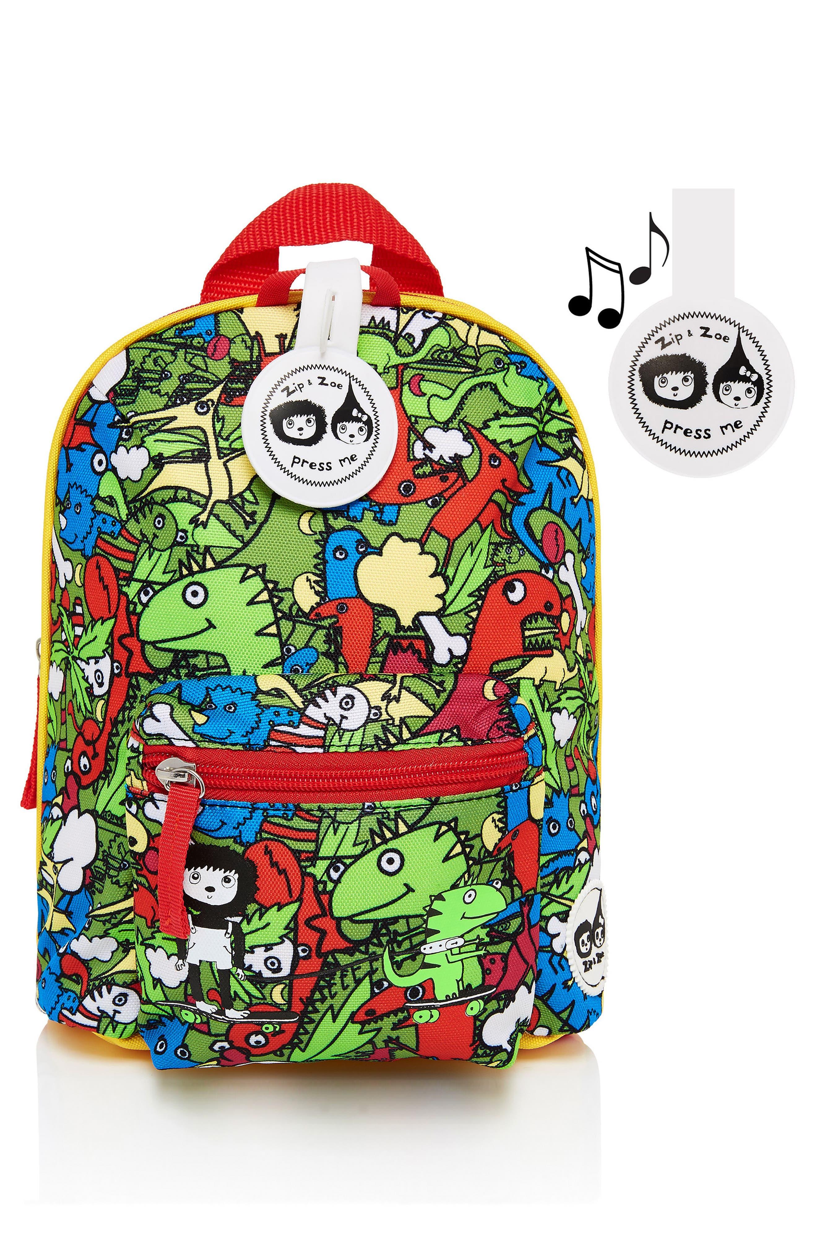 Graphic Mini Backpack,                             Alternate thumbnail 3, color,                             DINO MULTI