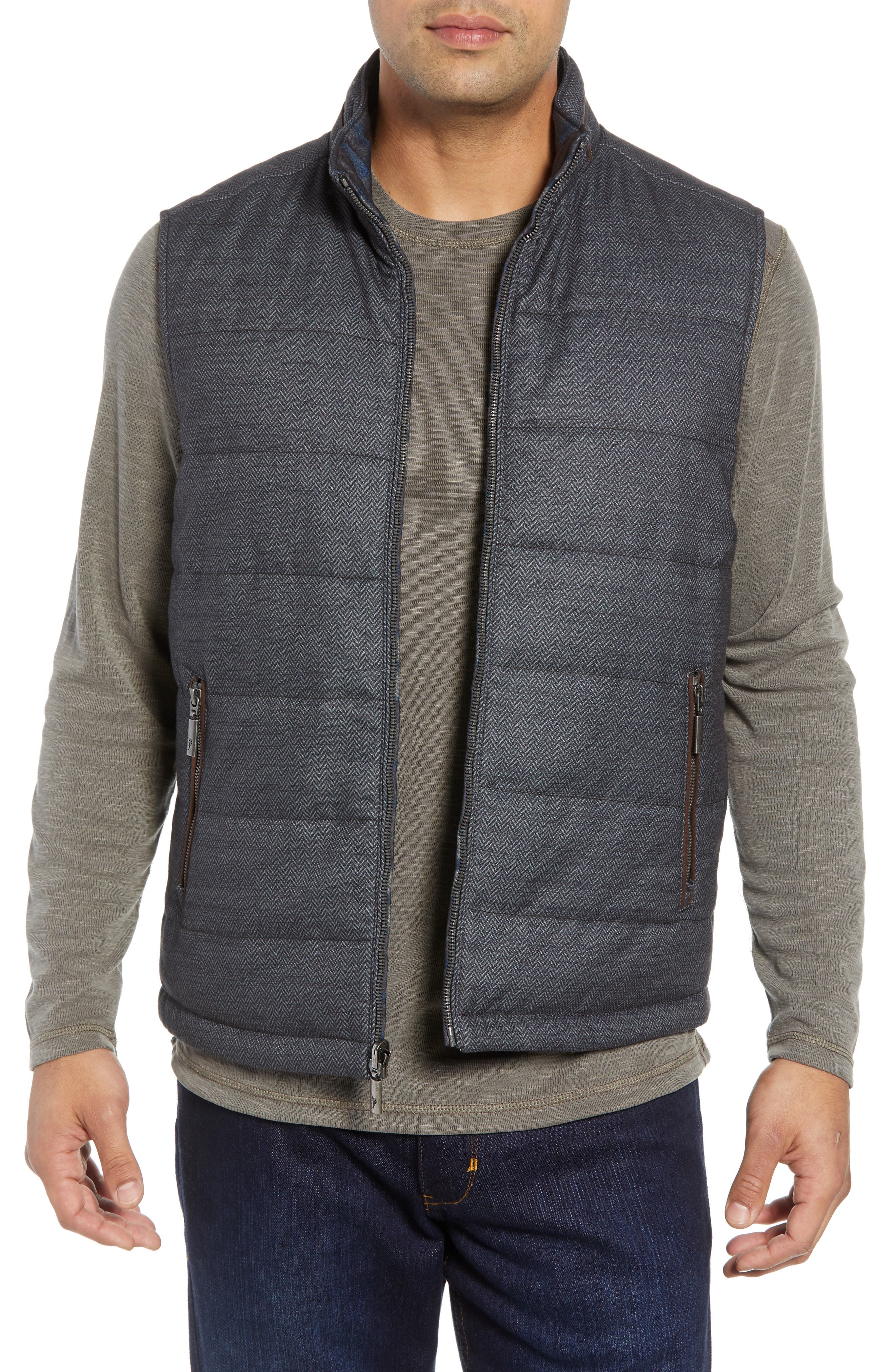 Dublin Duo Reversible Quilted Vest,                         Main,                         color, SHADOW