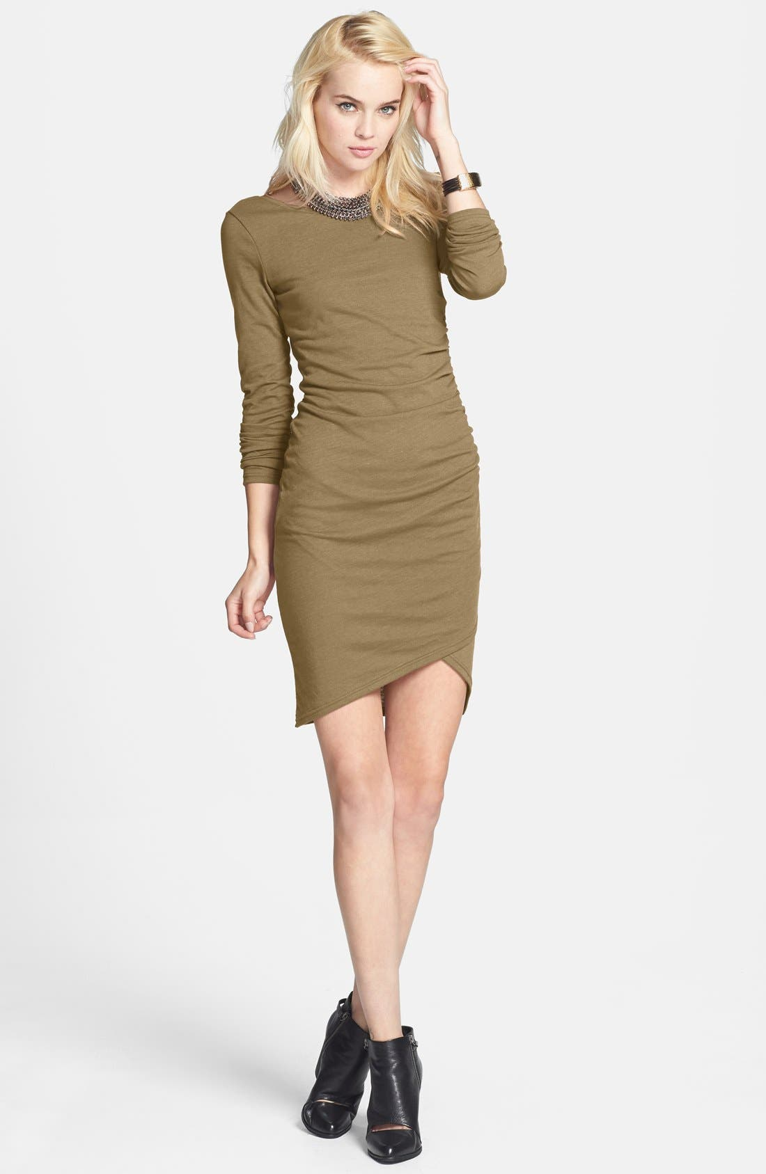 Ruched Long Sleeve Dress,                             Main thumbnail 15, color,