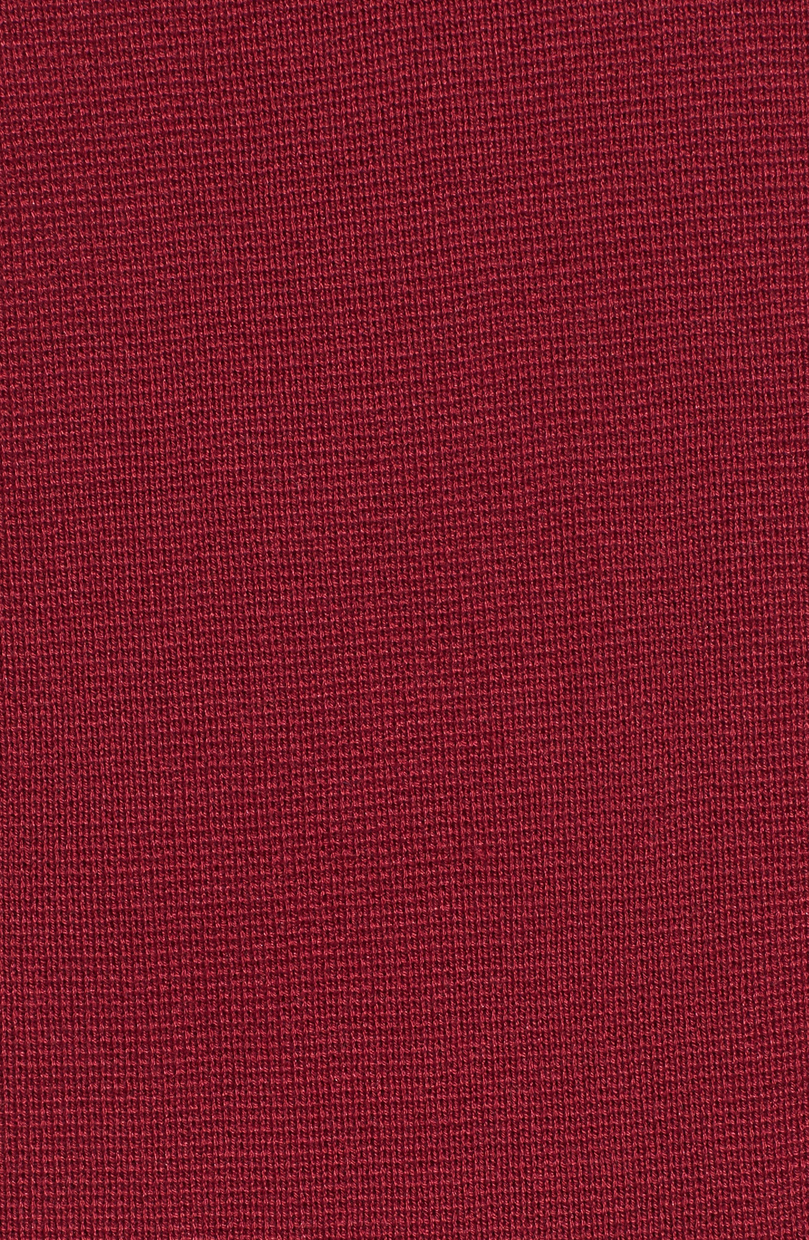 Mock Neck Box Silk & Organic Cotton Sweater,                             Alternate thumbnail 5, color,                             635