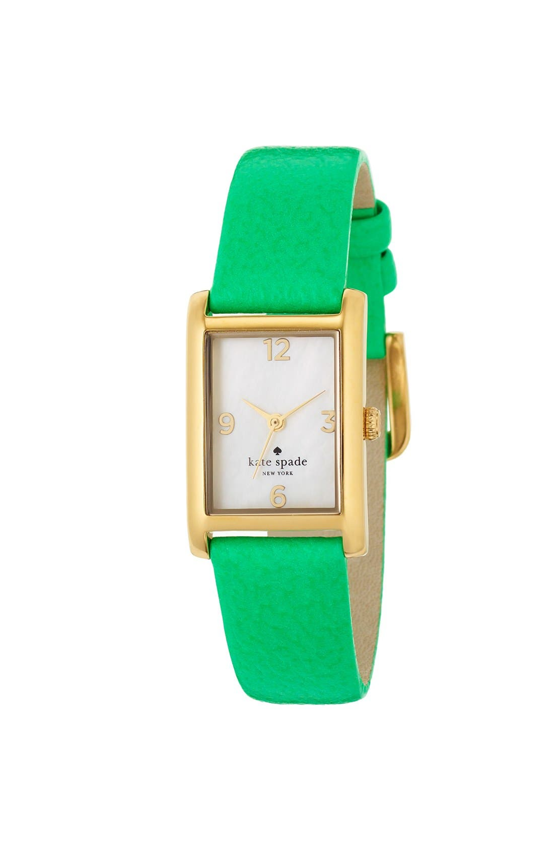 'cooper' leather strap watch, 21mm x 32mm,                             Alternate thumbnail 16, color,
