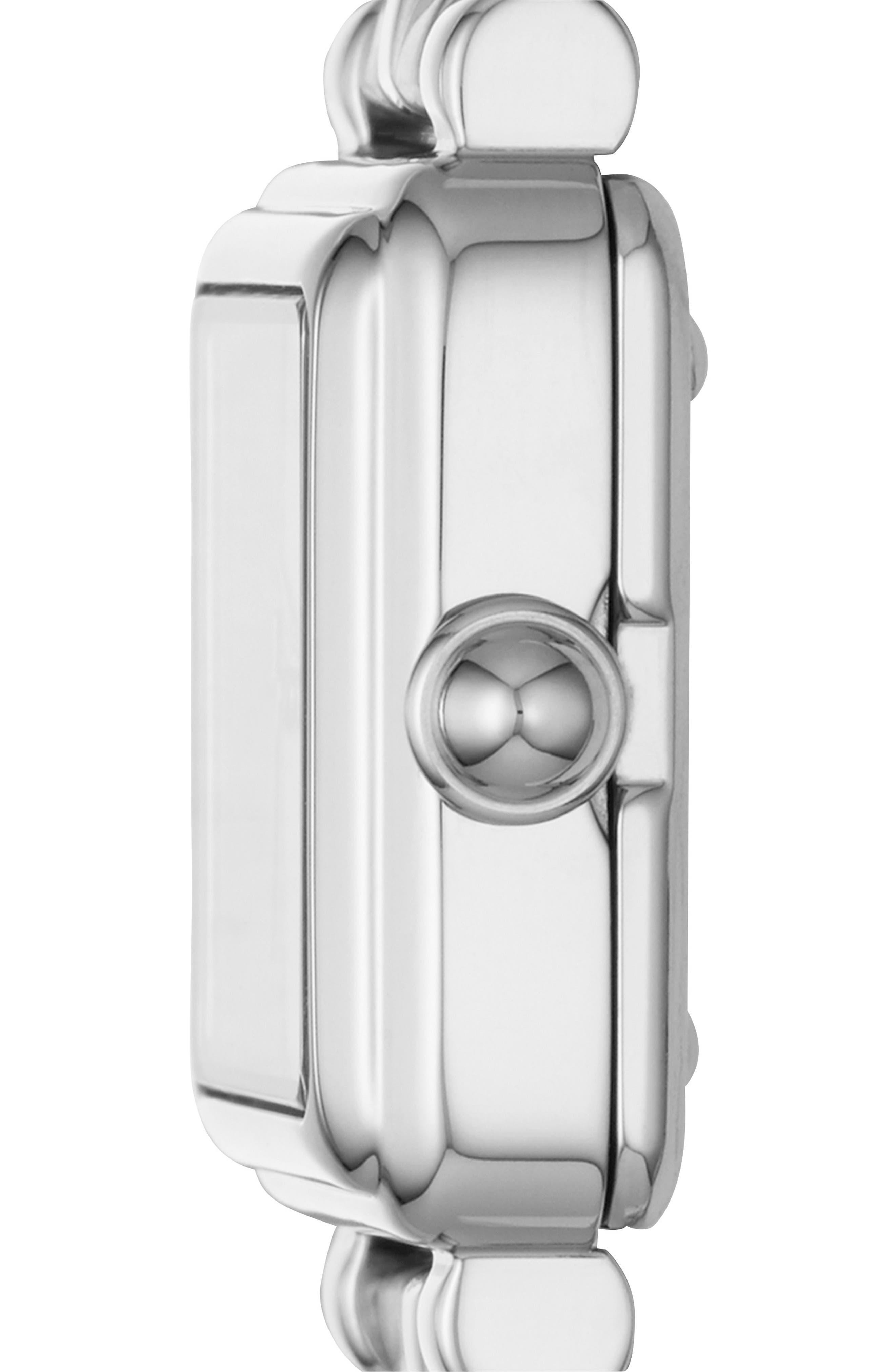 Vic Bracelet Watch, 20mm,                             Alternate thumbnail 2, color,                             SILVER/ WHITE SATIN