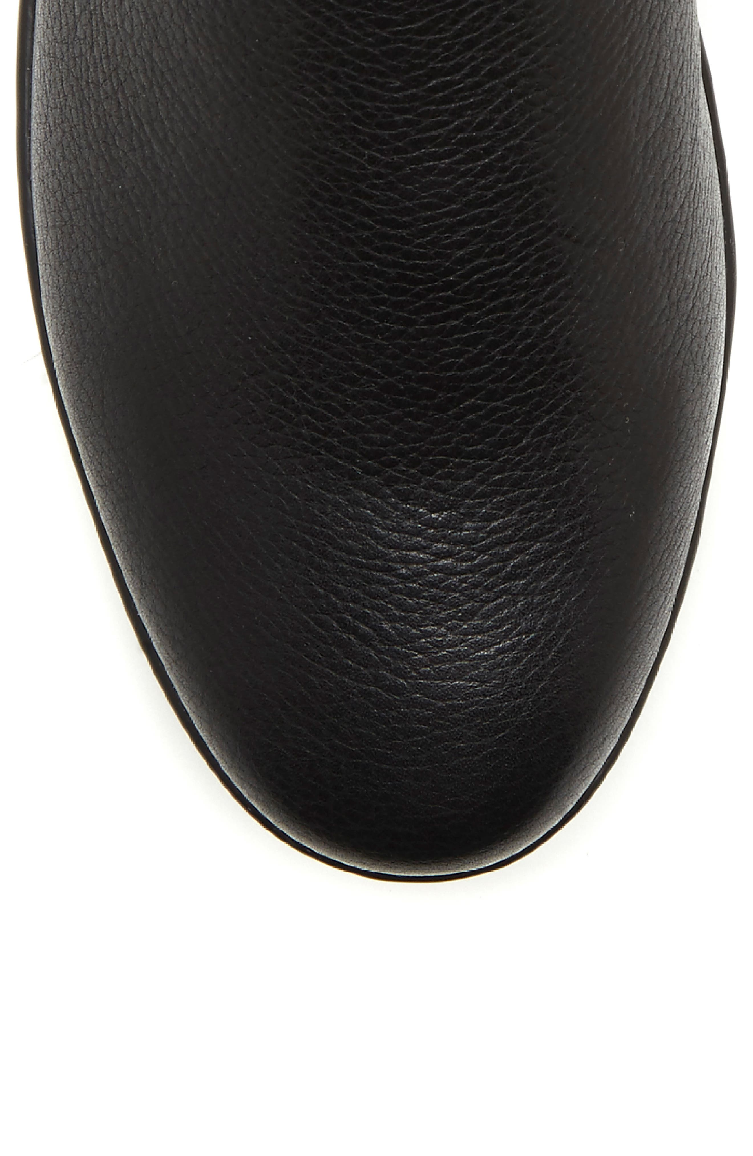 Alvarie Chelsea Bootie,                             Alternate thumbnail 7, color,                             BLACK LEATHER
