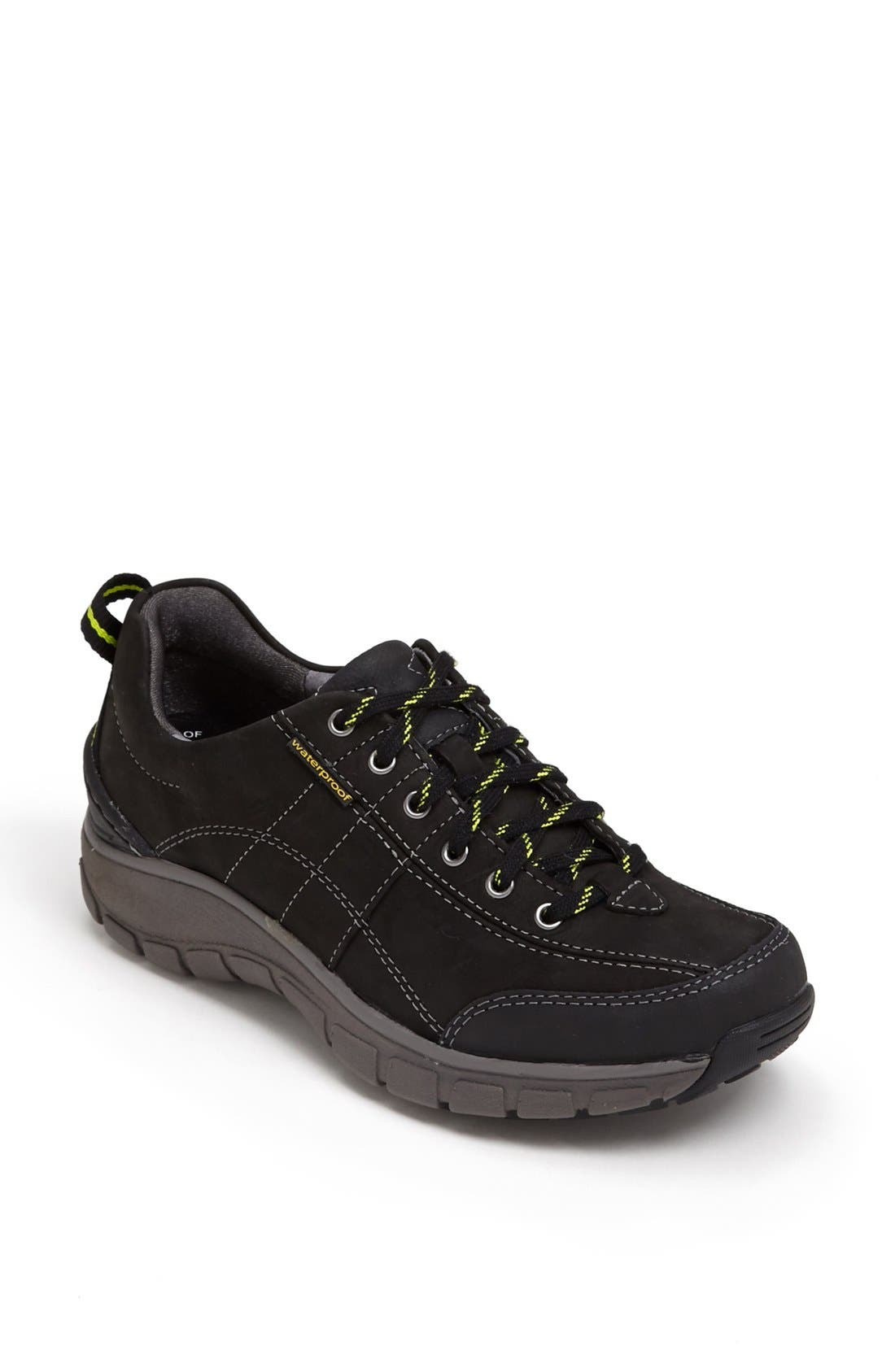 'Wave Trek' Waterproof Sneaker,                             Main thumbnail 1, color,                             BLACK