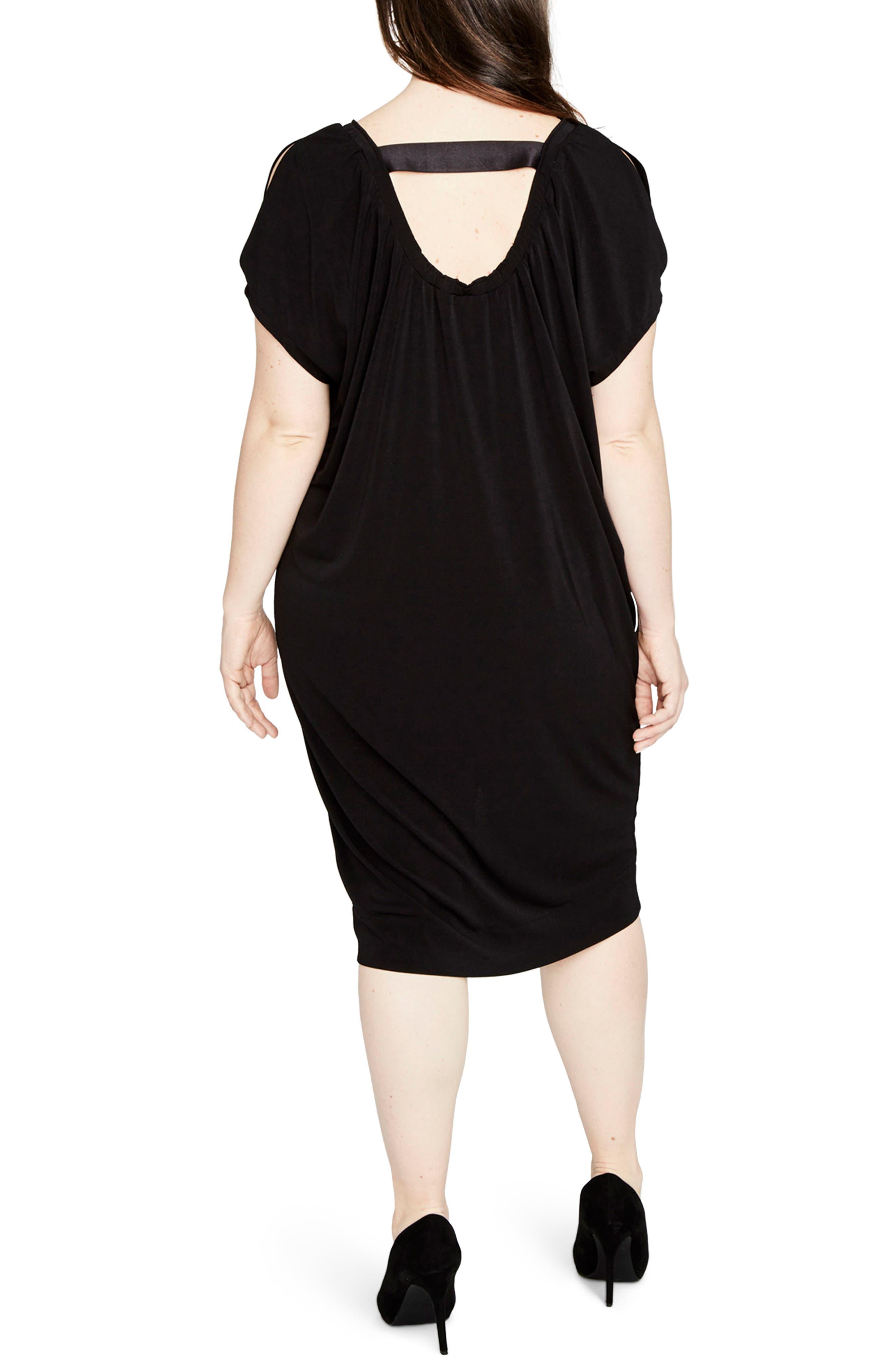 Gathered Caftan Dress,                             Alternate thumbnail 2, color,                             001