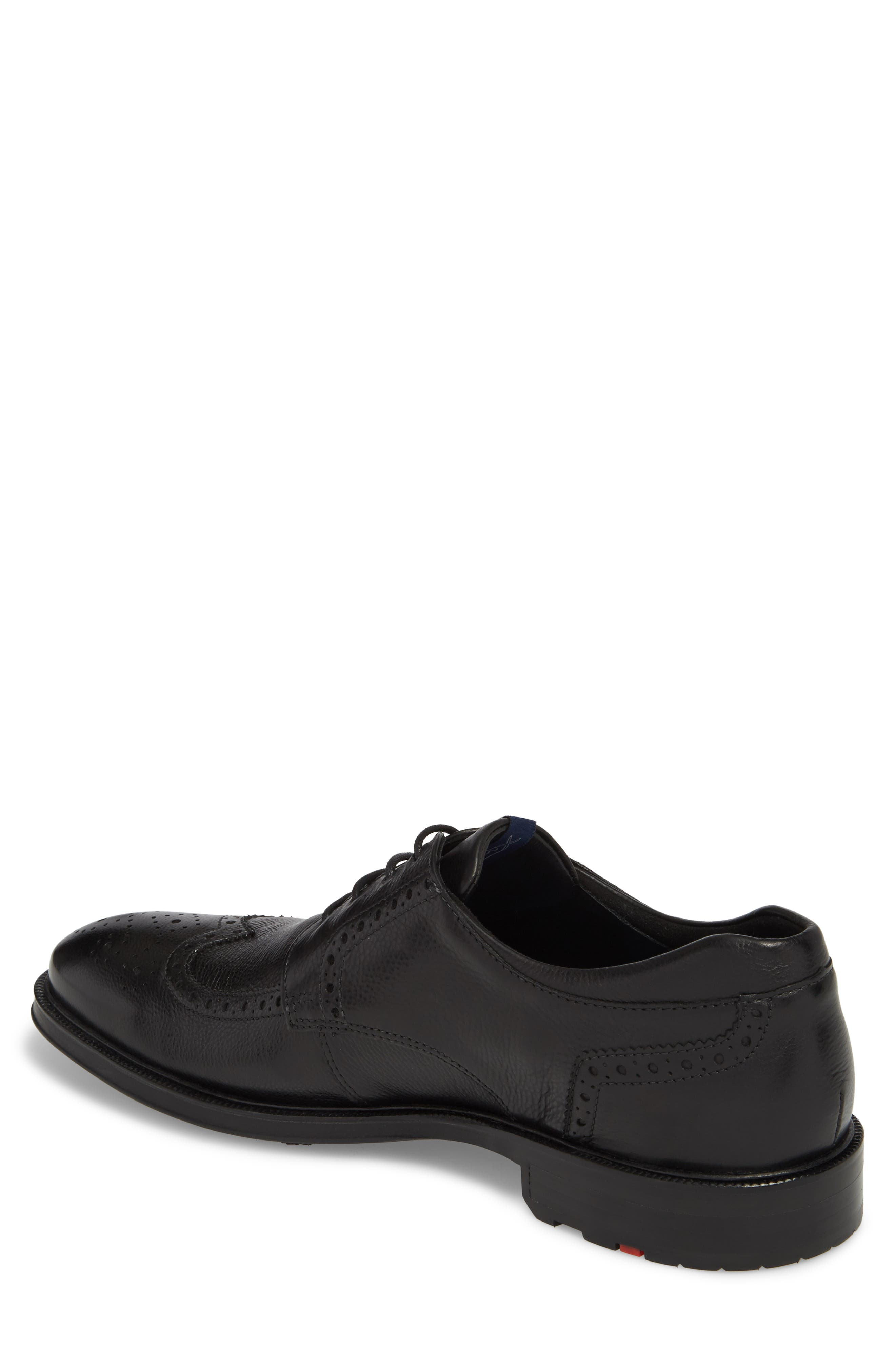 Marian Wingtip,                             Alternate thumbnail 2, color,                             BLACK LEATHER
