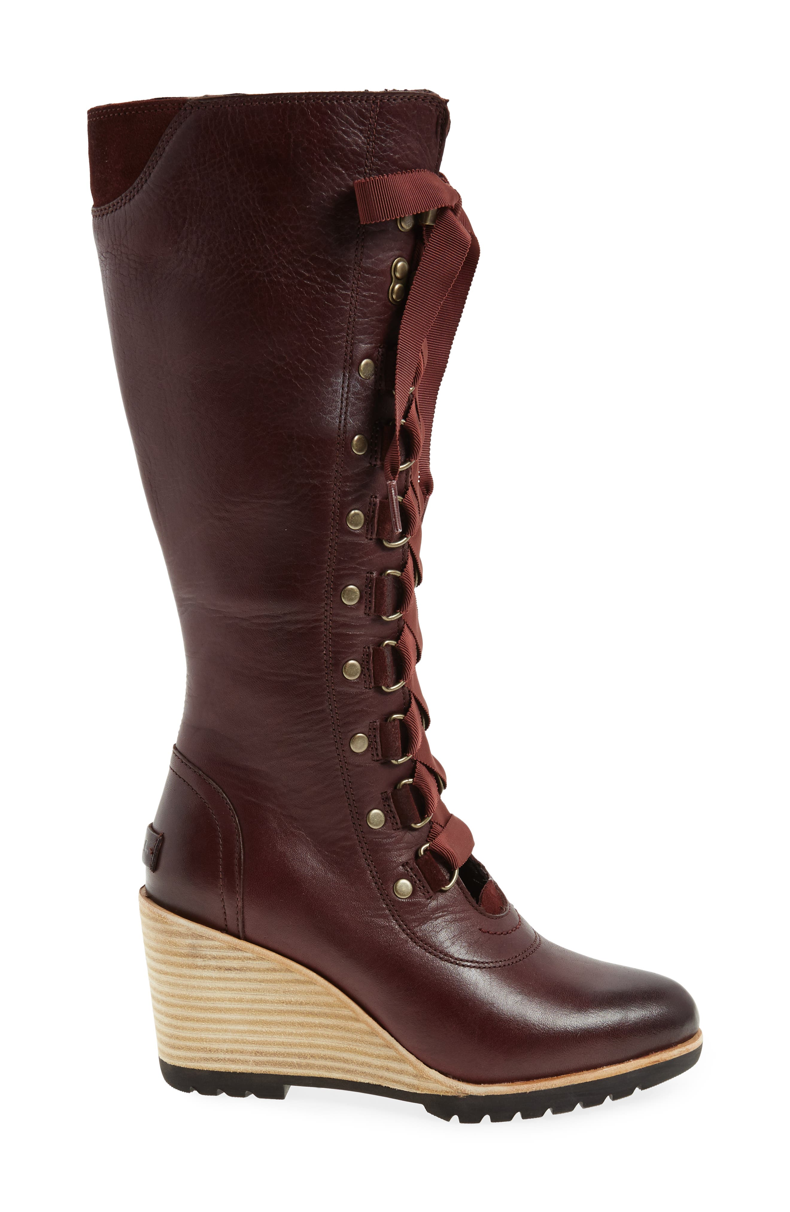 After Hours Lace Up Wedge Boot,                             Alternate thumbnail 6, color,